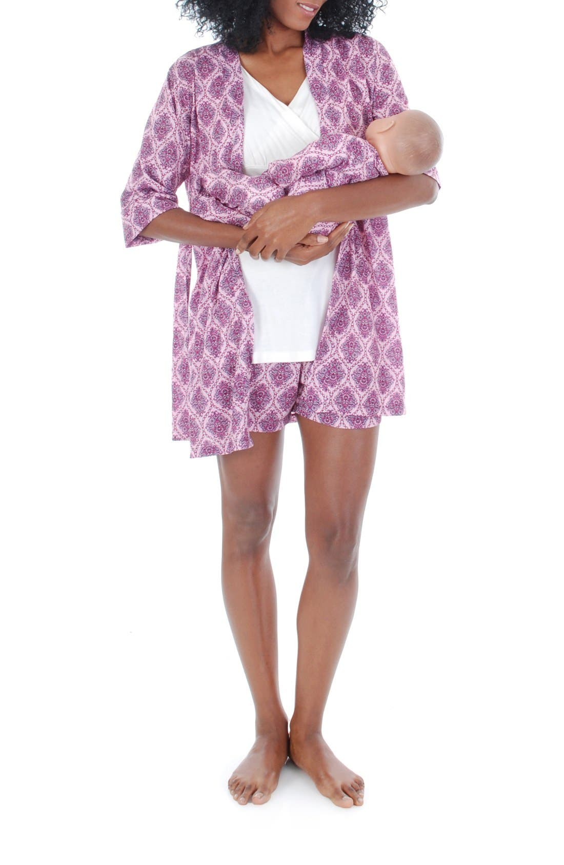 'Daphne - During & After' 5-Piece Maternity Sleepwear Set,                             Alternate thumbnail 6, color,                             500