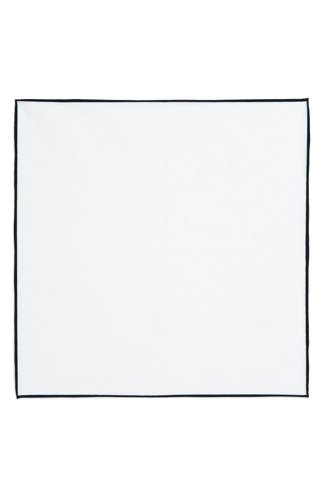 Cotton Solid Pocket Square,                             Alternate thumbnail 8, color,