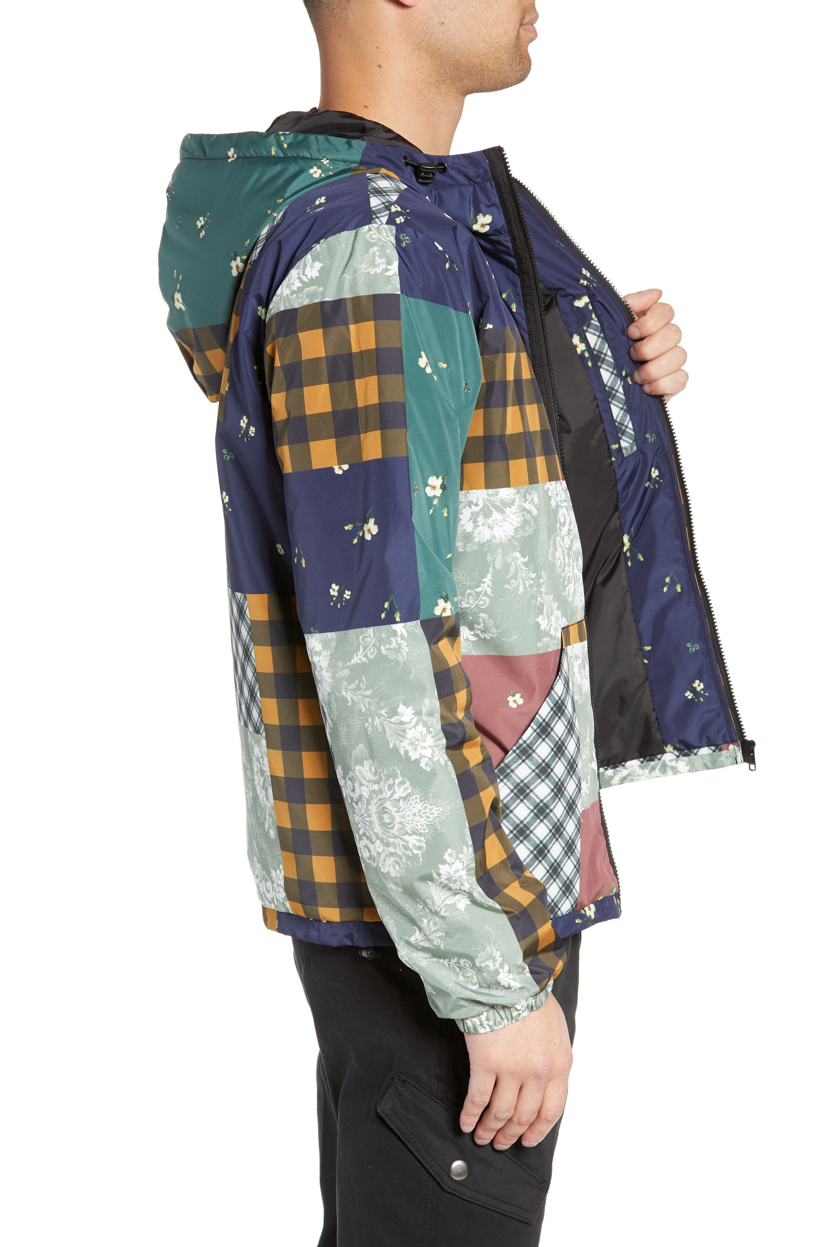 WESC,                             Patchwork Print Windbreaker,                             Alternate thumbnail 3, color,                             400