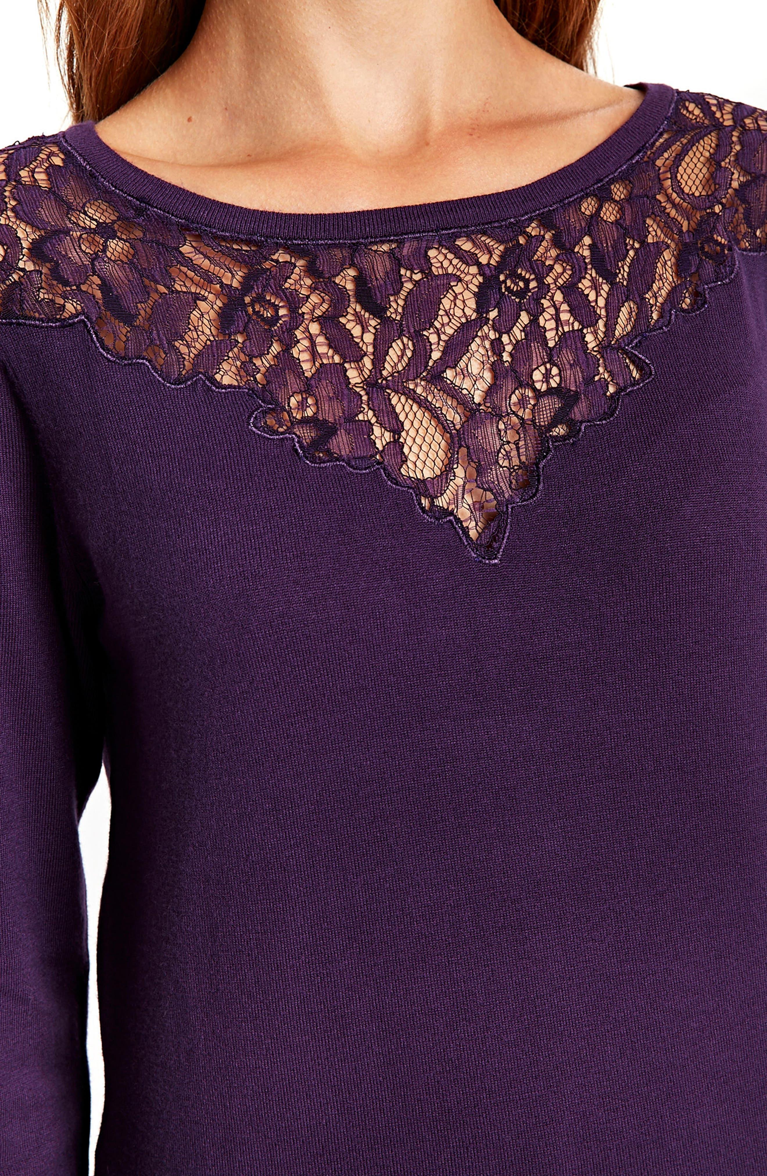 Lace Panel Shift Dress,                             Alternate thumbnail 6, color,