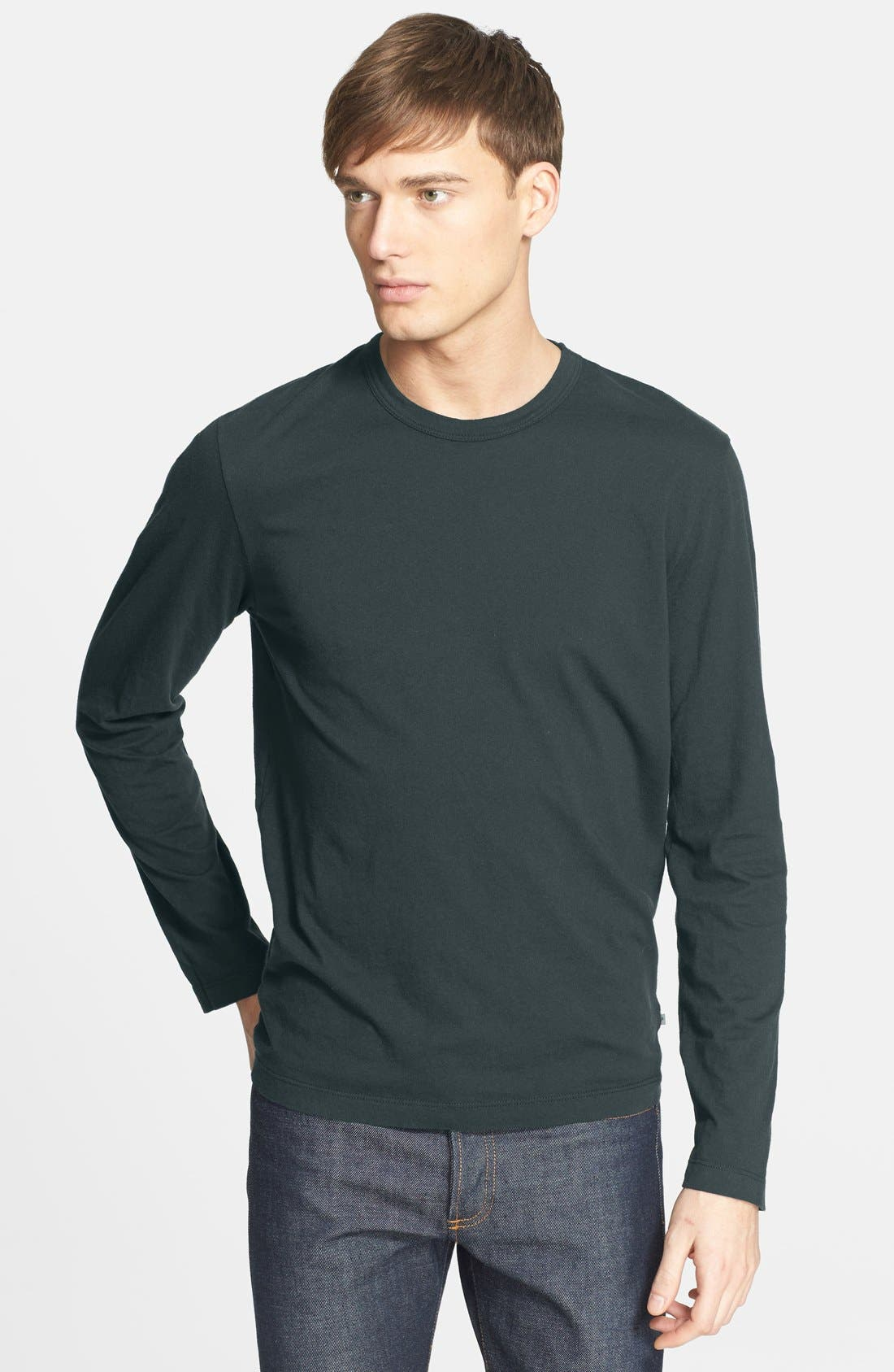 Long Sleeve Crewneck T-Shirt,                             Main thumbnail 6, color,