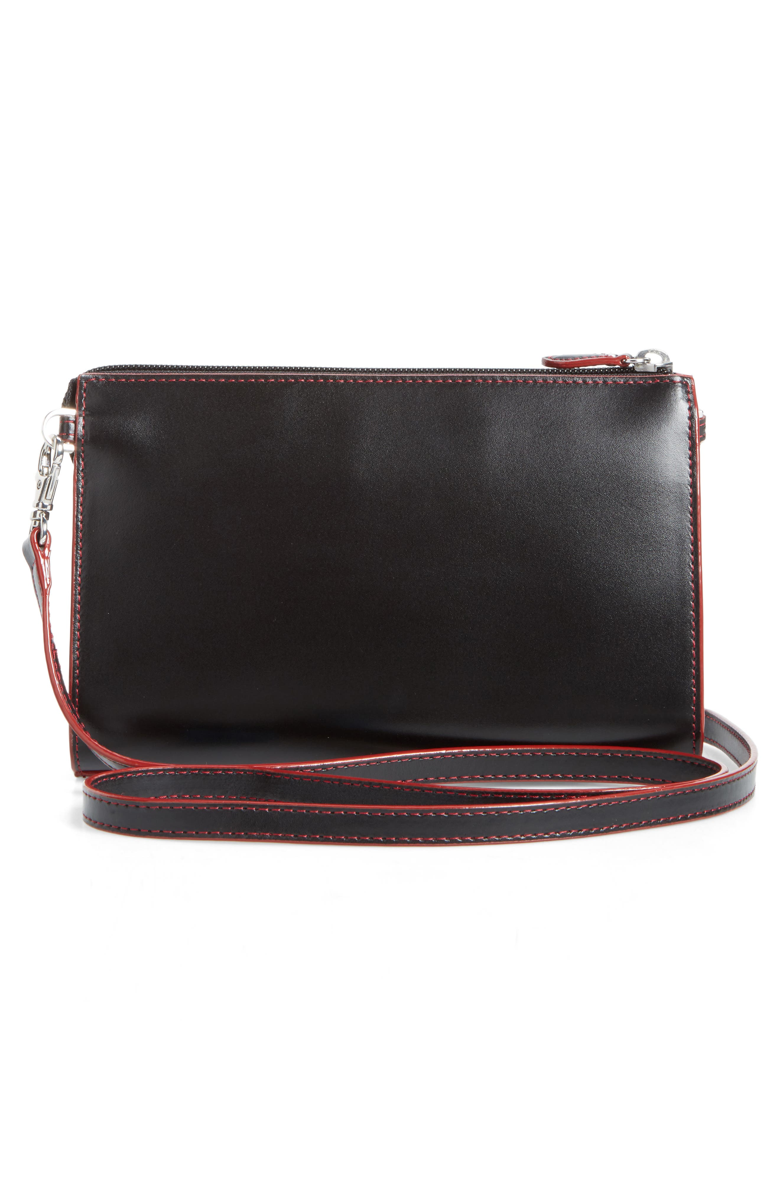 Audrey Under Lock & Key Vicky Convertible Leather Crossbody Bag,                             Alternate thumbnail 3, color,                             001