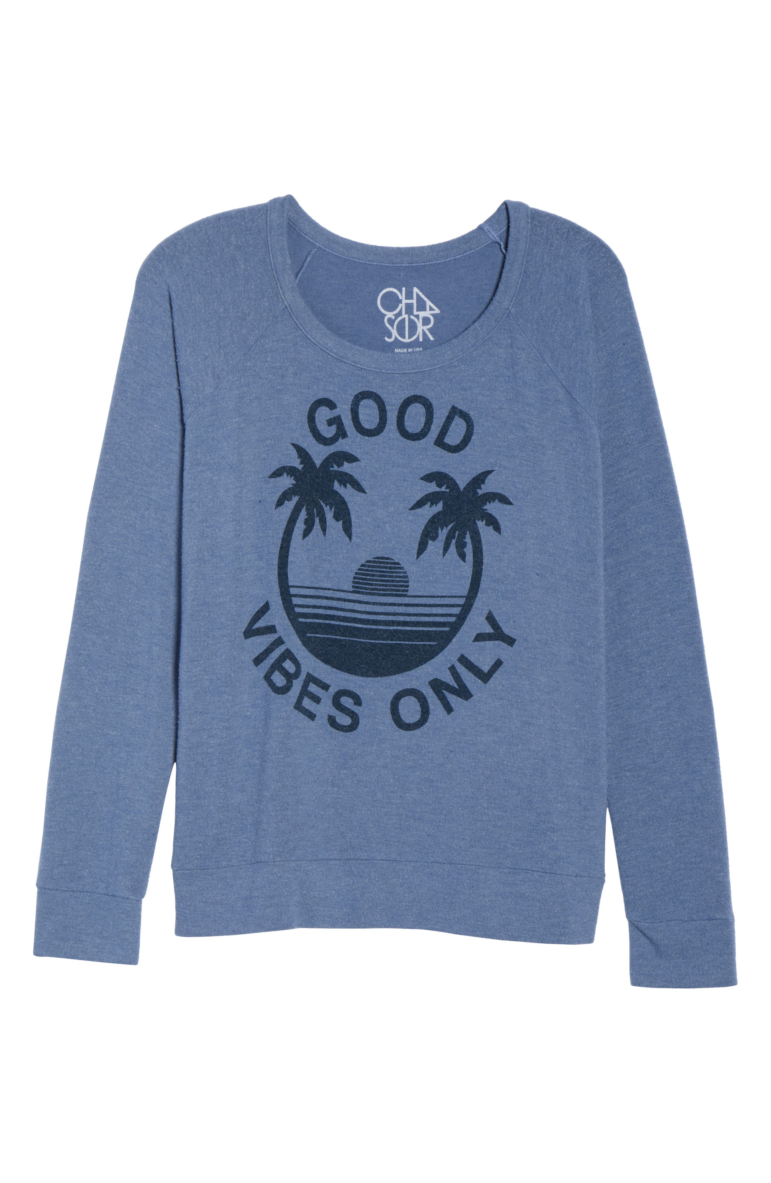 Good Vibes Only Pullover,                             Alternate thumbnail 6, color,                             451