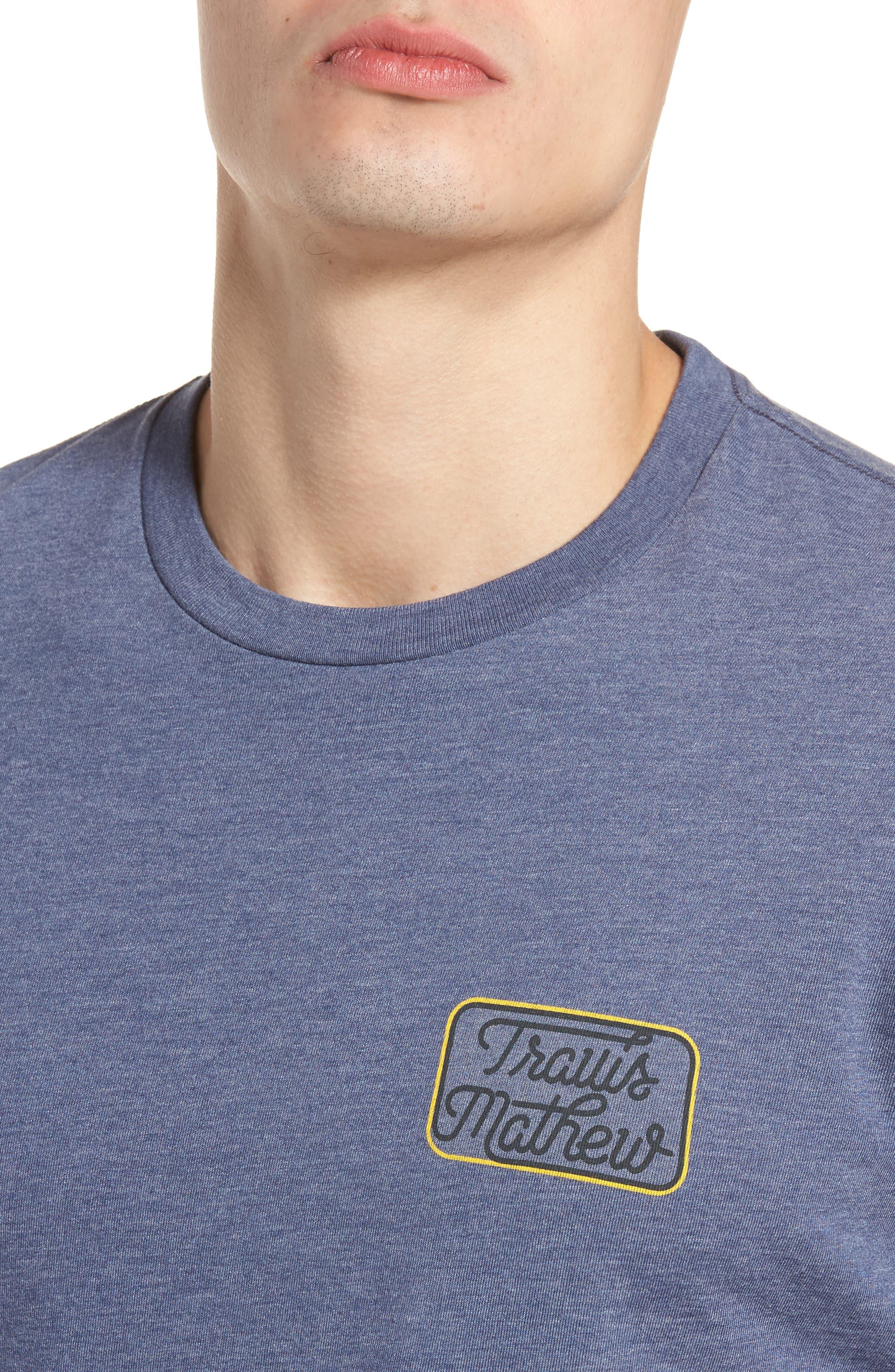 TRAVIS MATHEW,                             Truck Stop Graphic T-Shirt,                             Alternate thumbnail 4, color,                             400