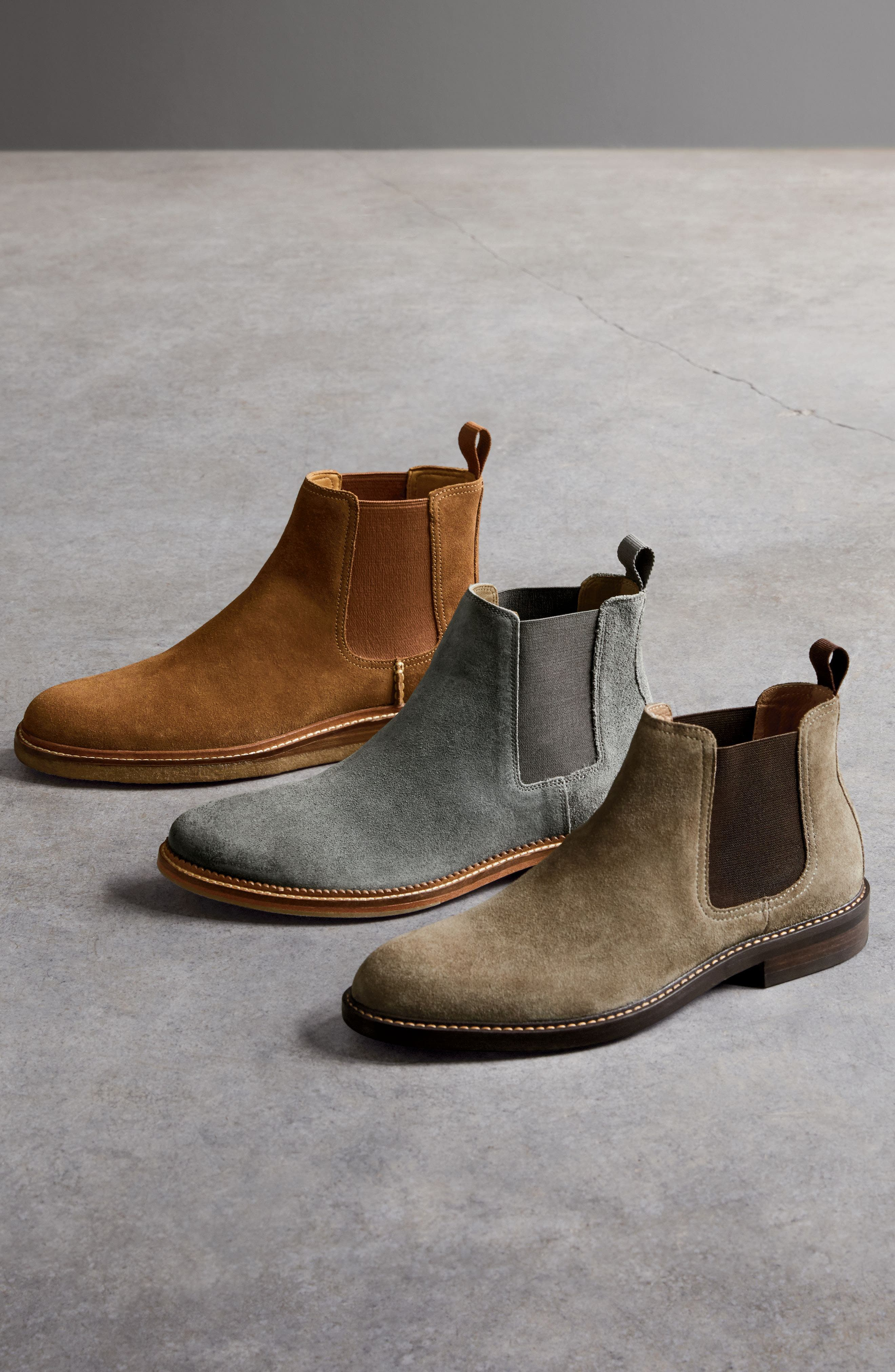 Leather Chelsea Boot,                             Alternate thumbnail 7, color,                             001