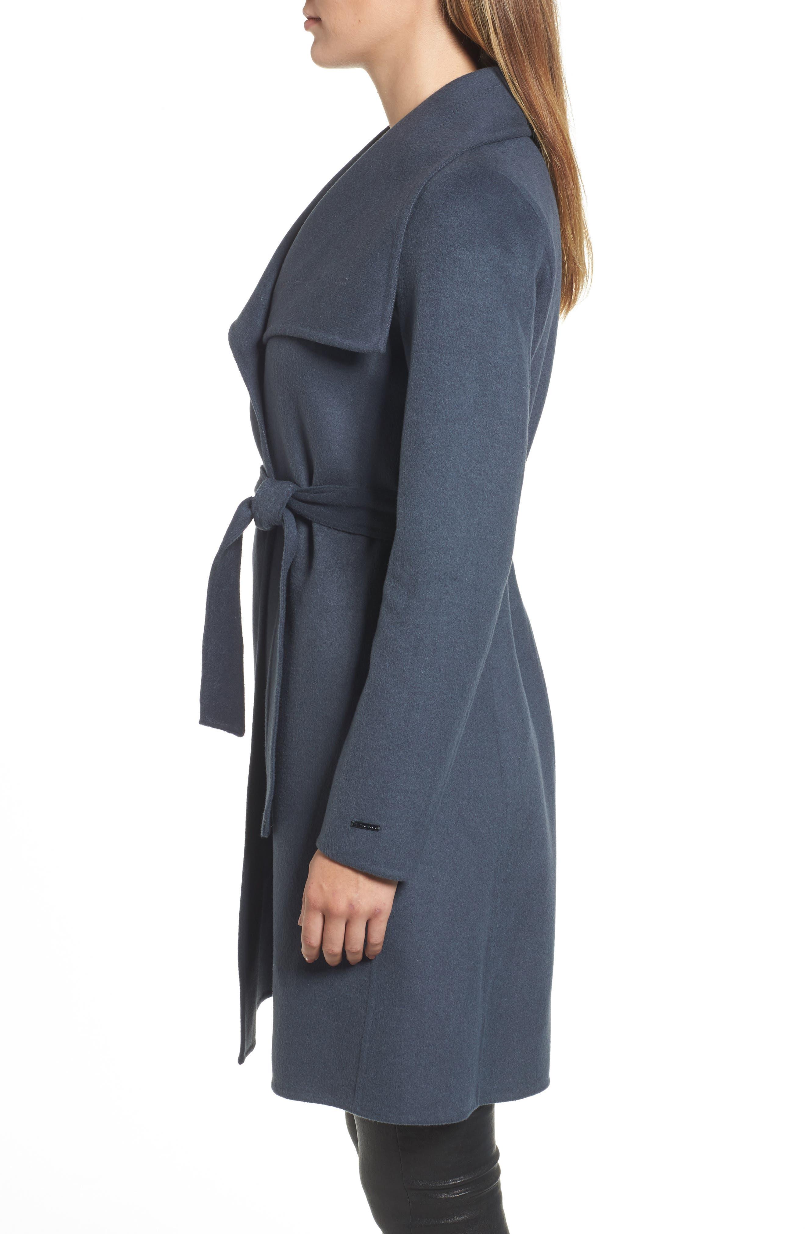 Ellie Double Face Wool Blend Wrap Coat,                             Alternate thumbnail 8, color,