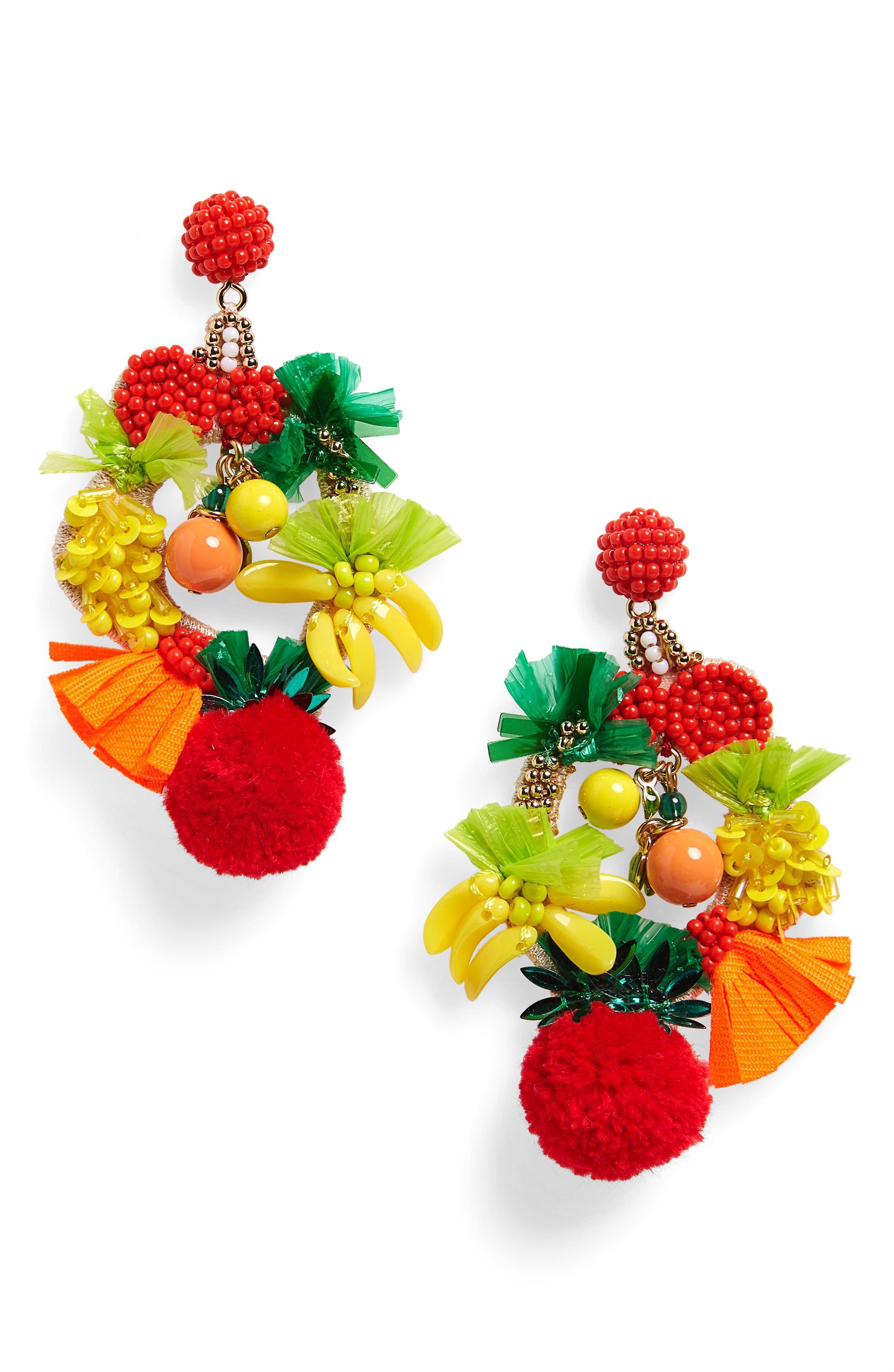 Fruit Bowl Earrings,                         Main,                         color,