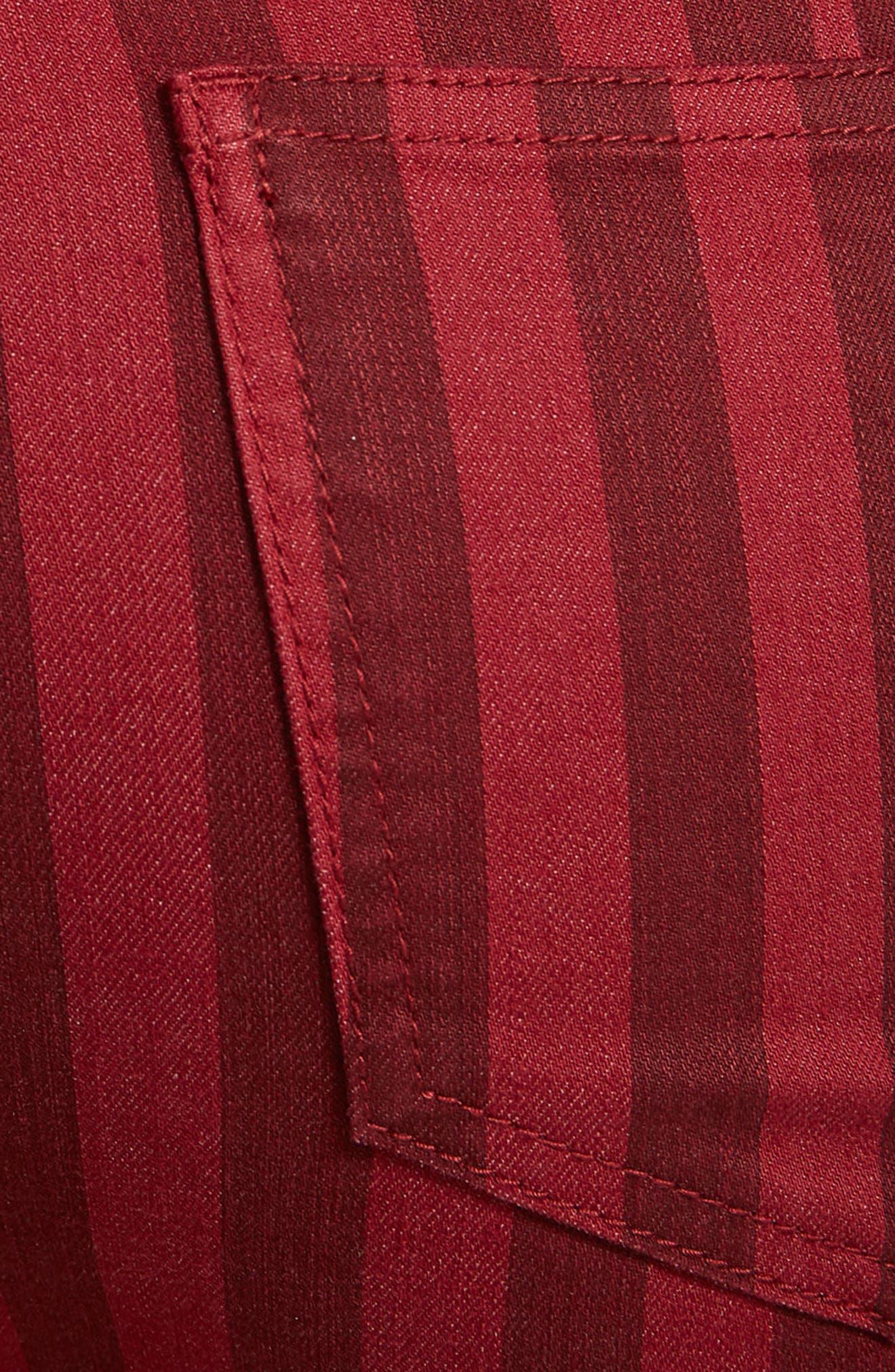 Claire Lace-Up Flare Leg Jeans,                             Alternate thumbnail 5, color,                             600