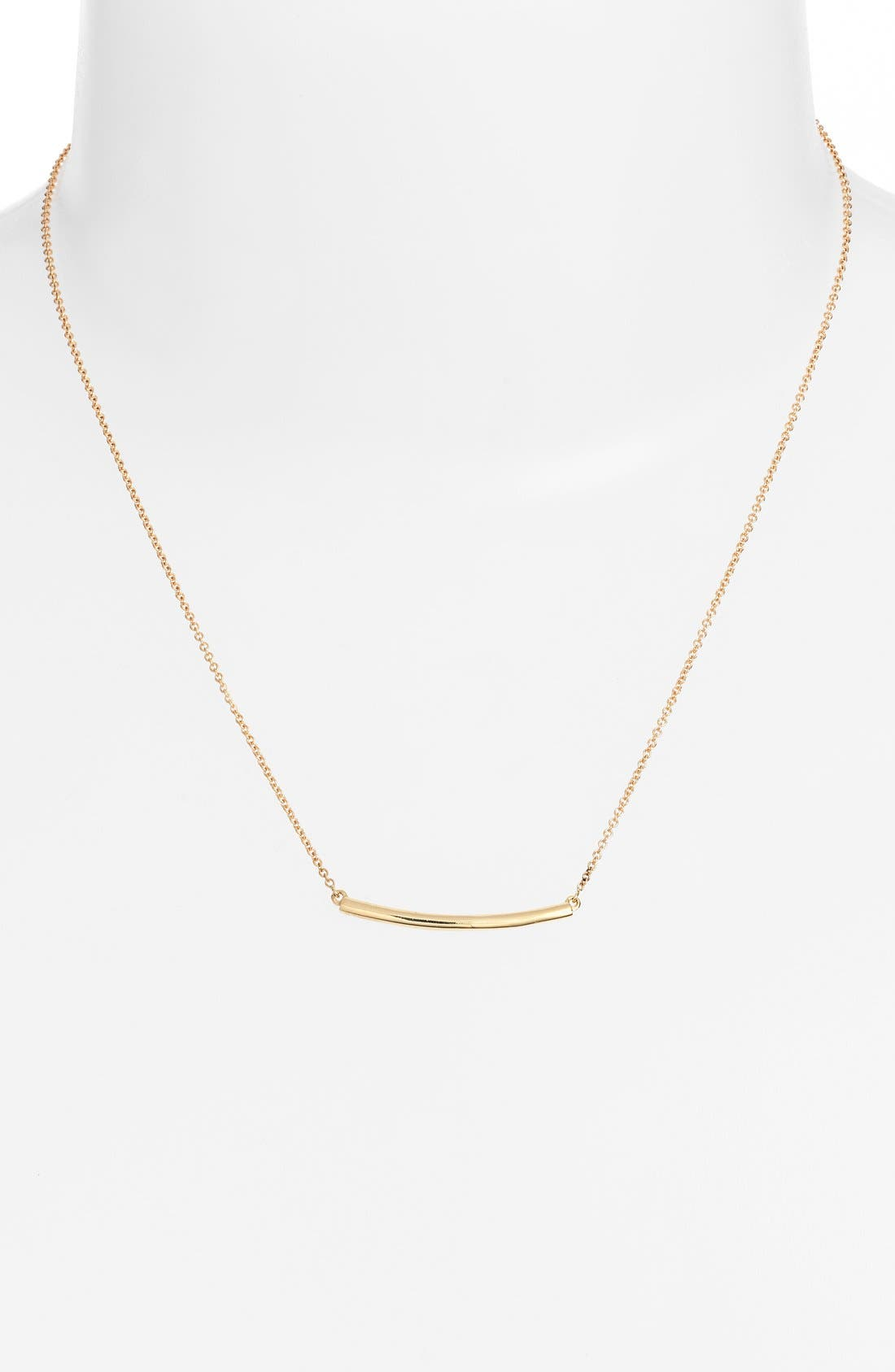 Bar Pendant Necklace,                             Alternate thumbnail 3, color,                             YELLOW GOLD