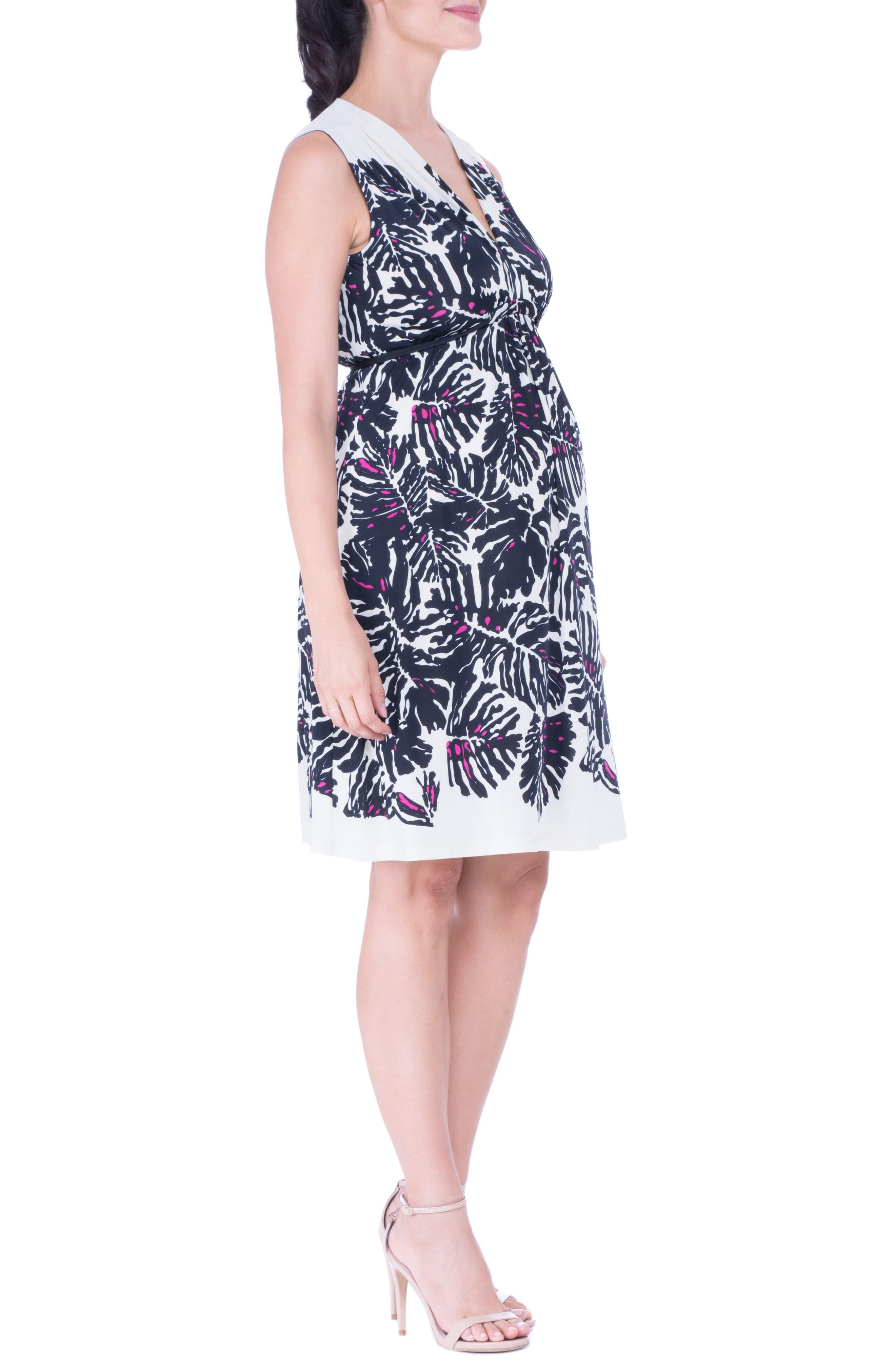 Print Maternity Dress,                             Alternate thumbnail 3, color,