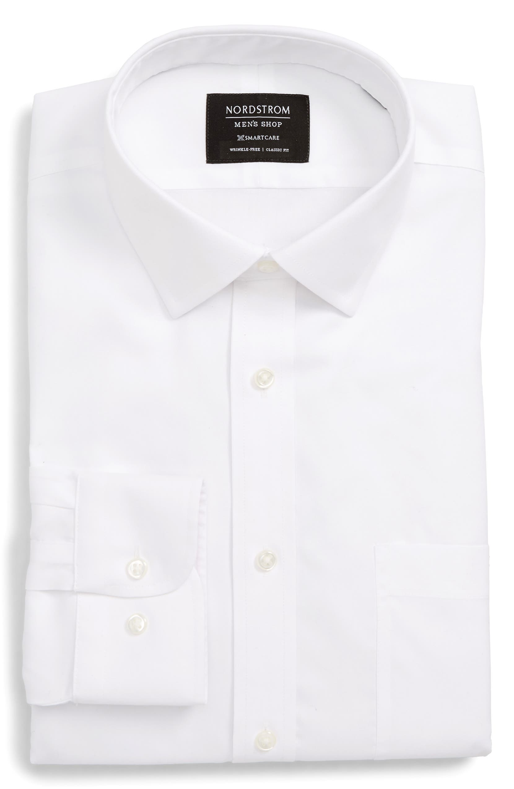 Nordstrom Mens Shop Smartcare Classic Fit Solid Dress Shirt