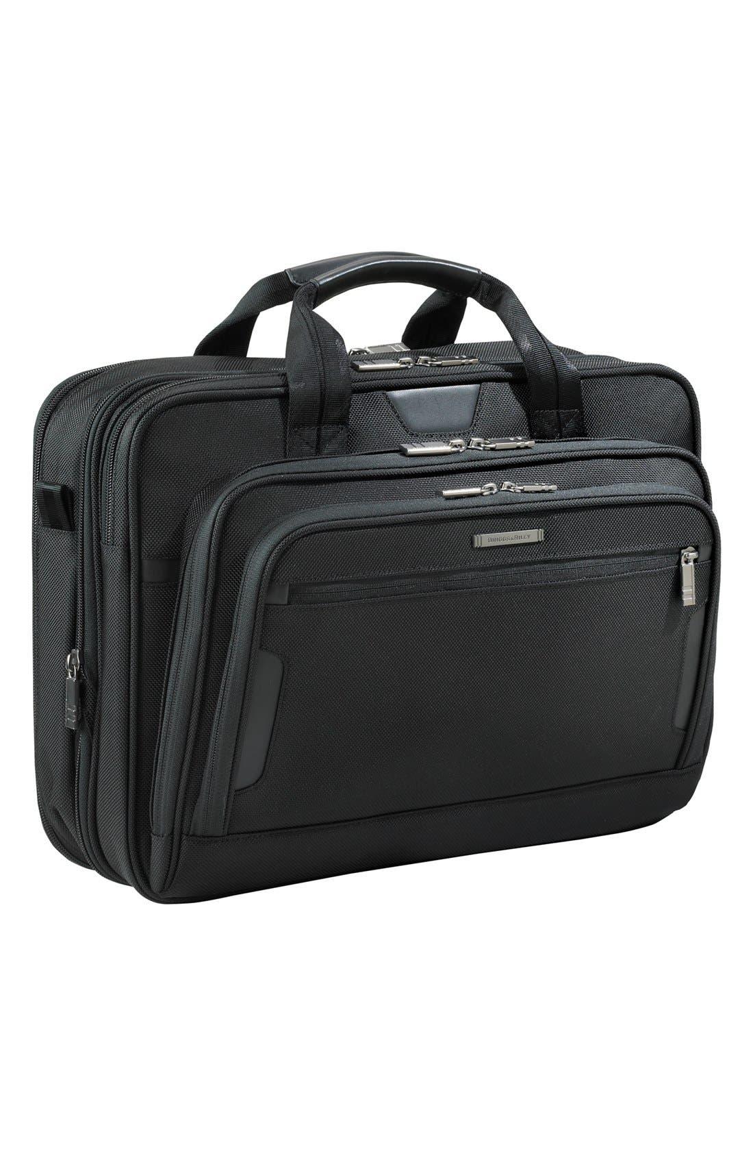 'Medium' Expandable Ballistic Nylon Briefcase,                             Main thumbnail 1, color,                             004