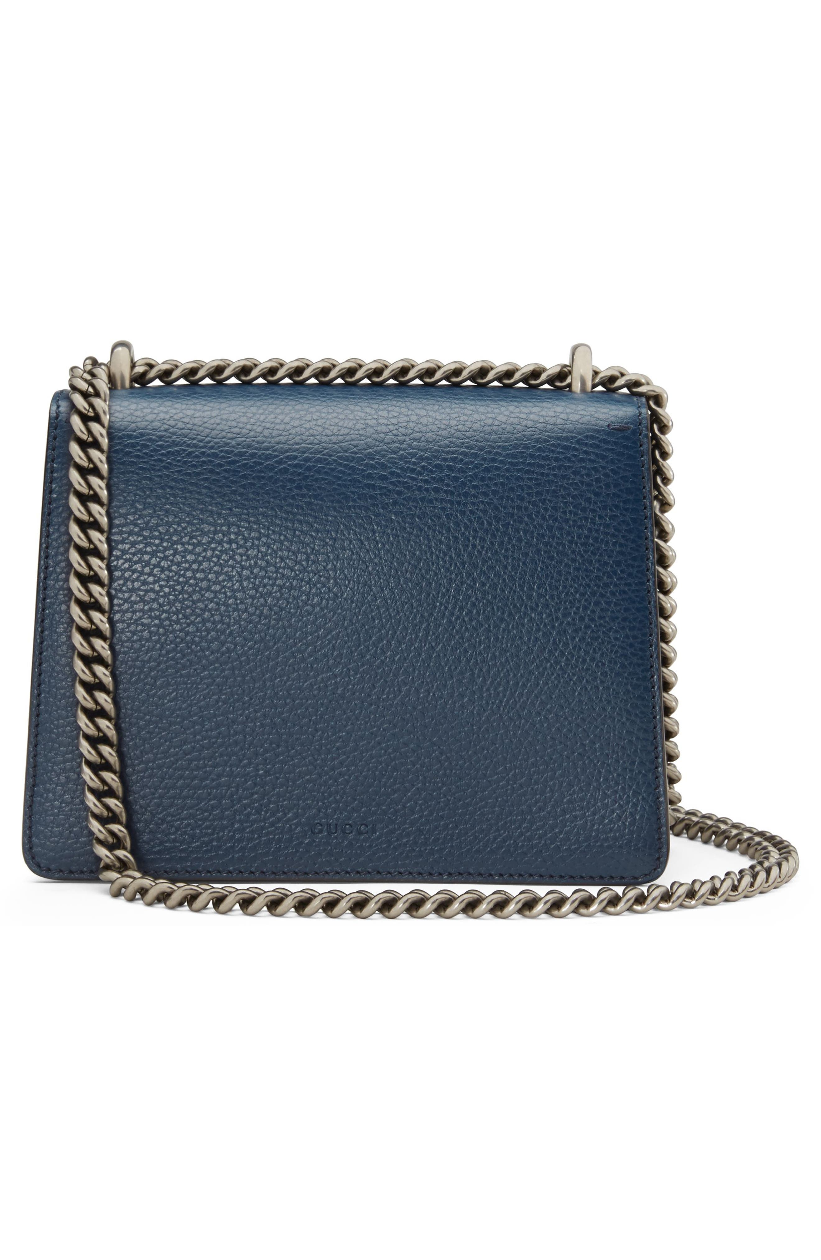 Mini Dionysus Leather Shoulder Bag,                             Alternate thumbnail 2, color,                             BLU AGATA/ MONTANA