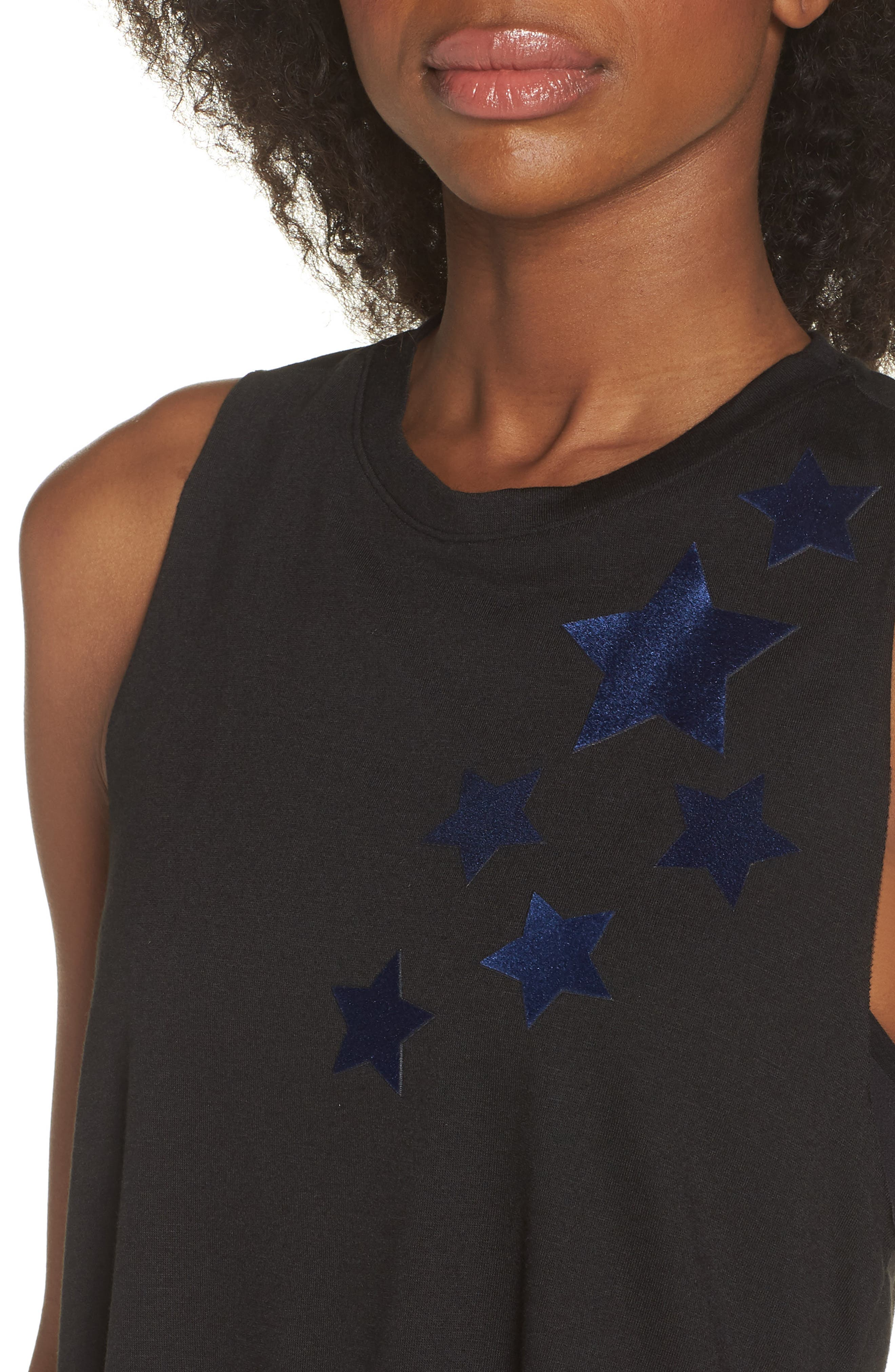 Velvet Stars Racerback Tank,                             Alternate thumbnail 4, color,                             NERO/ NAVY