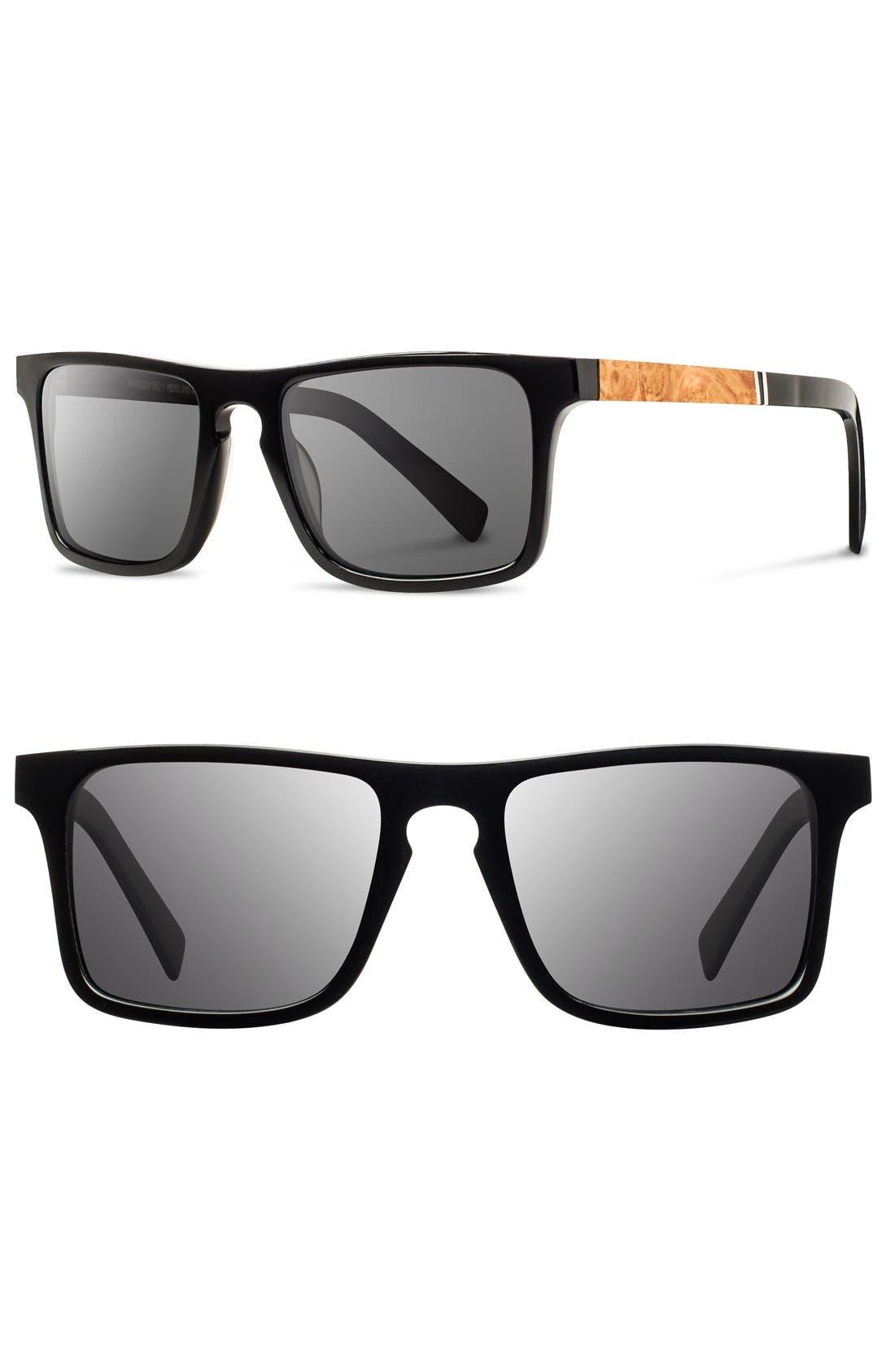 'Govy' 52mm Wood Sunglasses,                         Main,                         color, 002