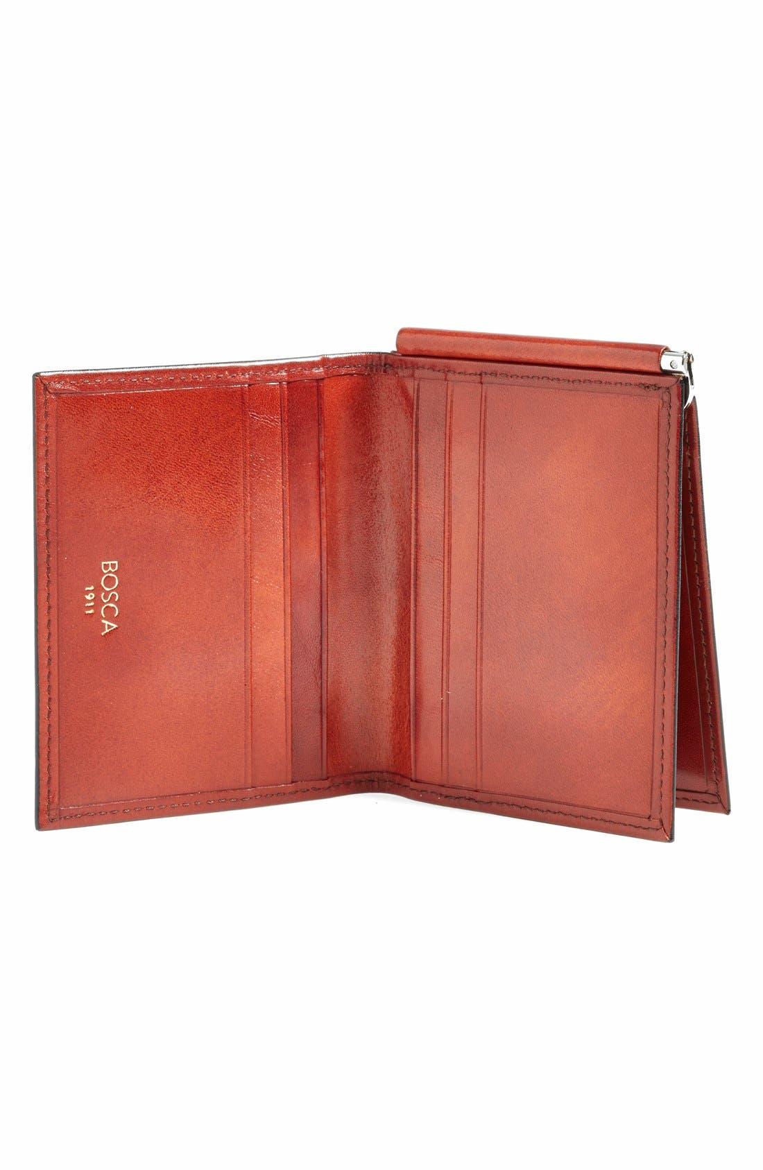 'Old Leather' Money Clip Wallet,                             Alternate thumbnail 2, color,                             COGNAC