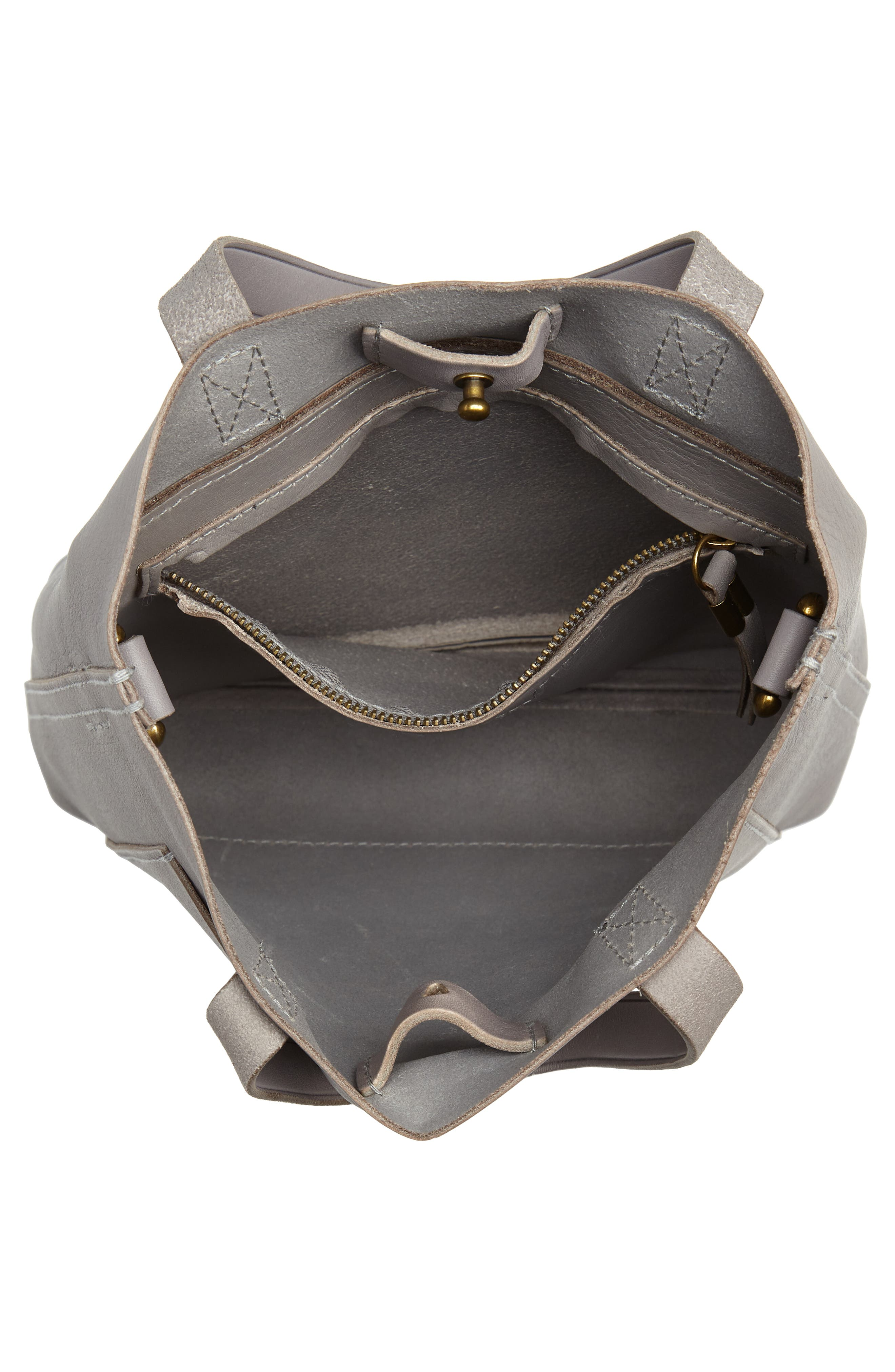 Small Transport Leather Crossbody,                             Alternate thumbnail 4, color,                             STONEWALL