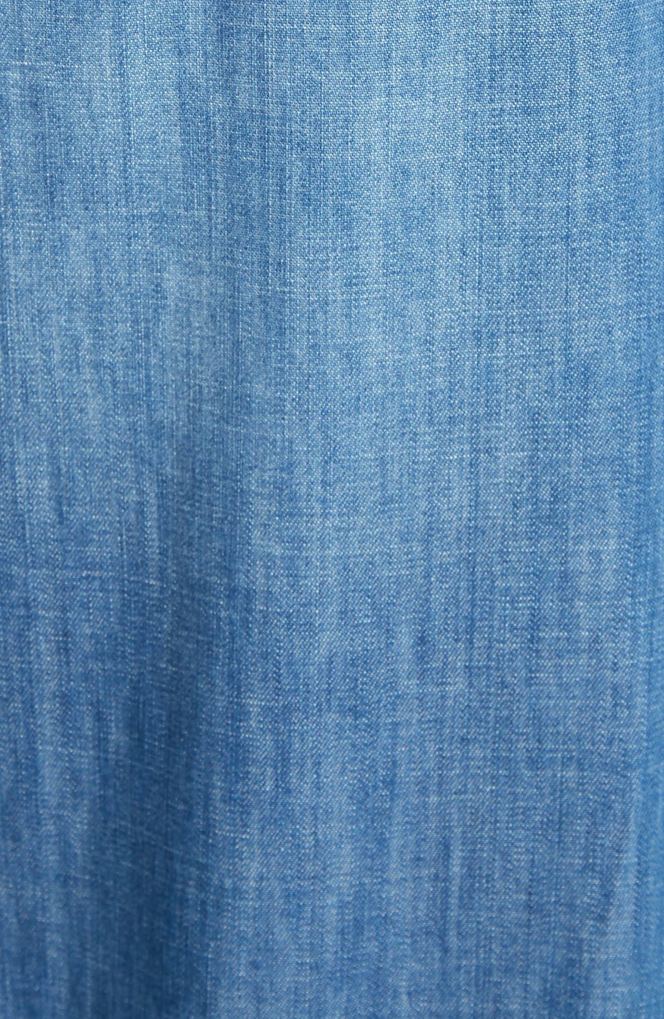 Clarissa Side Slit Wide Leg Jeans,                             Alternate thumbnail 5, color,                             470