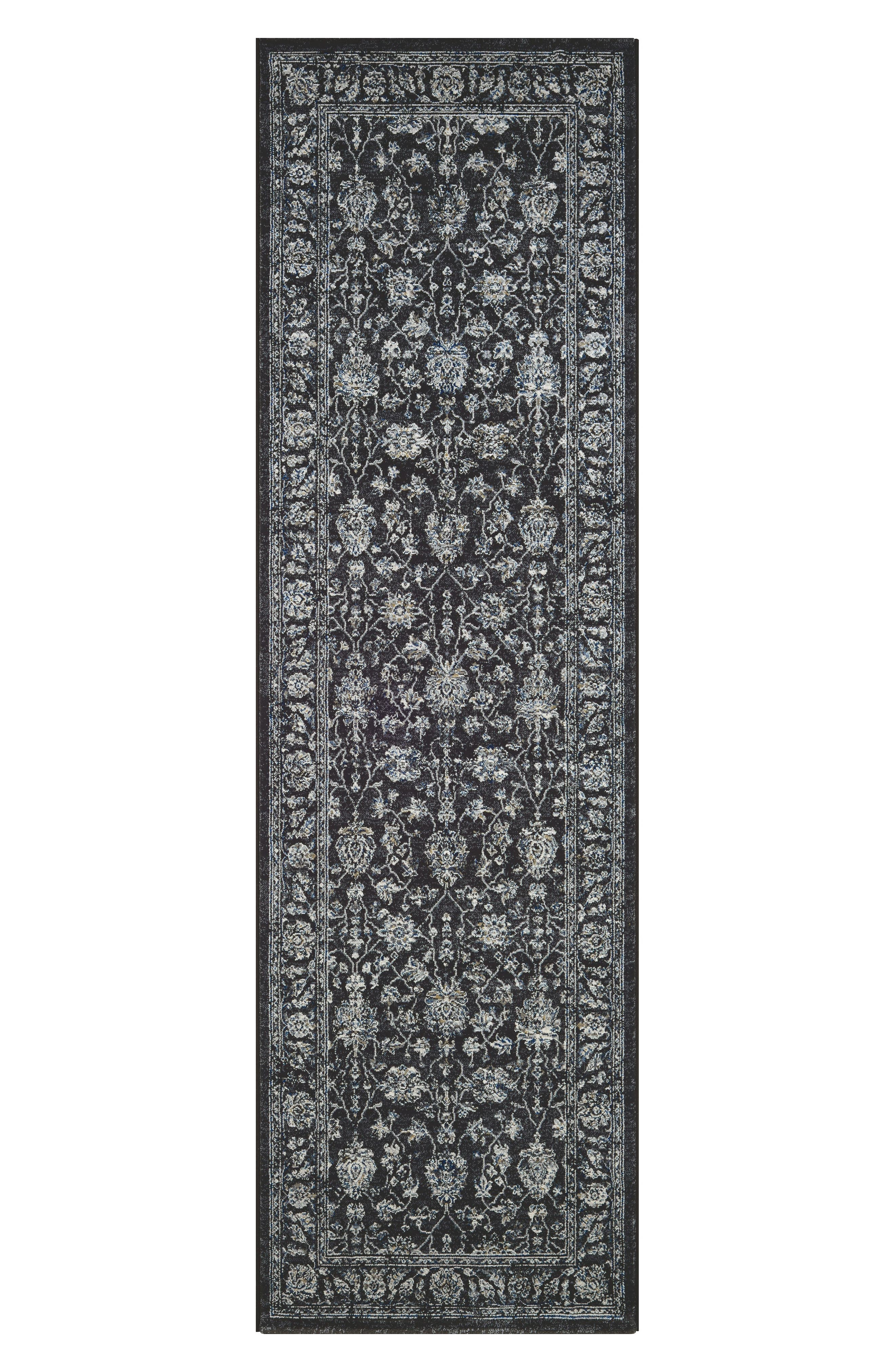 Mashhad Indoor/Outdoor Rug,                             Alternate thumbnail 2, color,                             BLACK