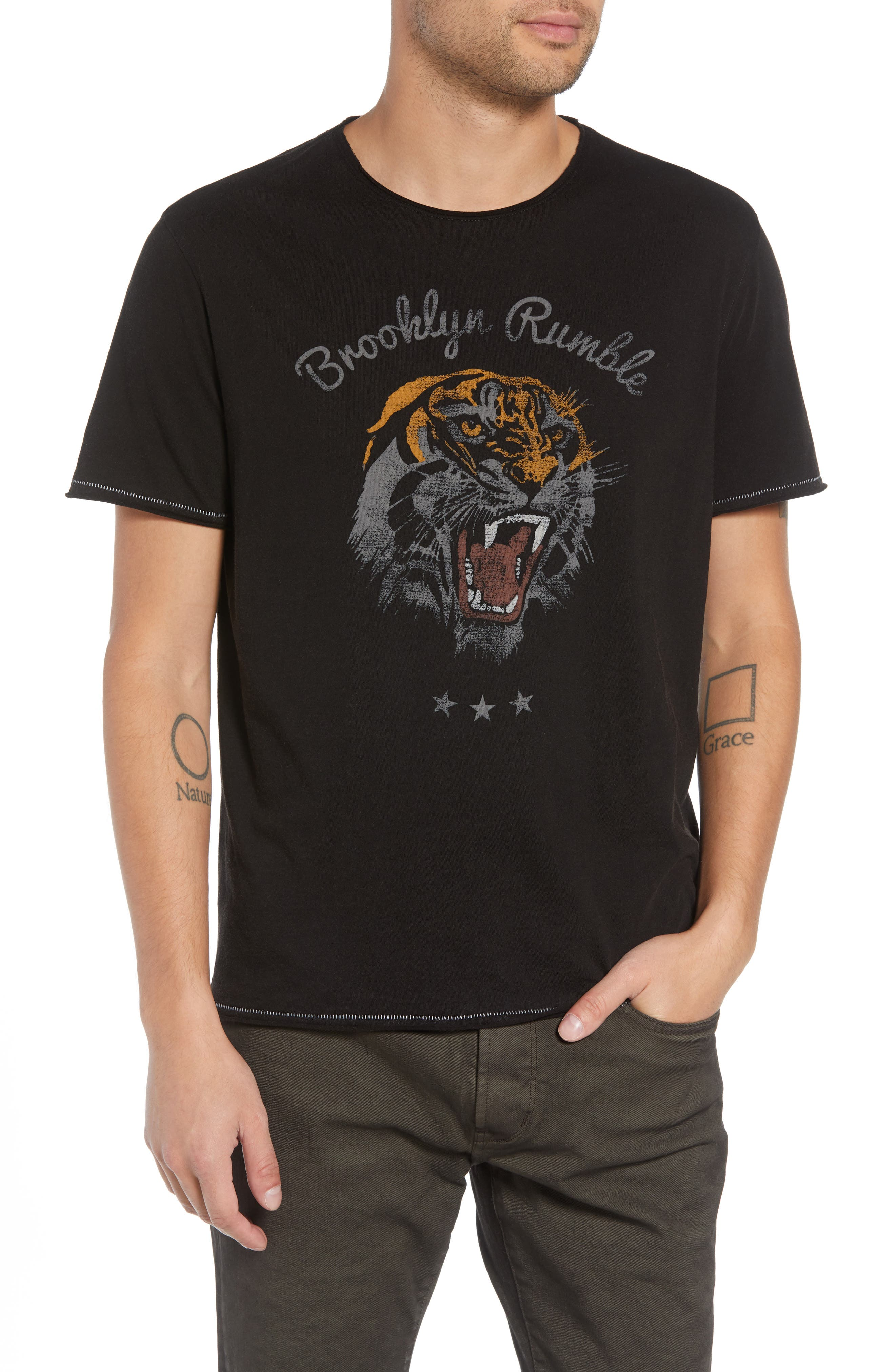 Brooklyn Rumble Graphic T-Shirt,                             Main thumbnail 1, color,                             001
