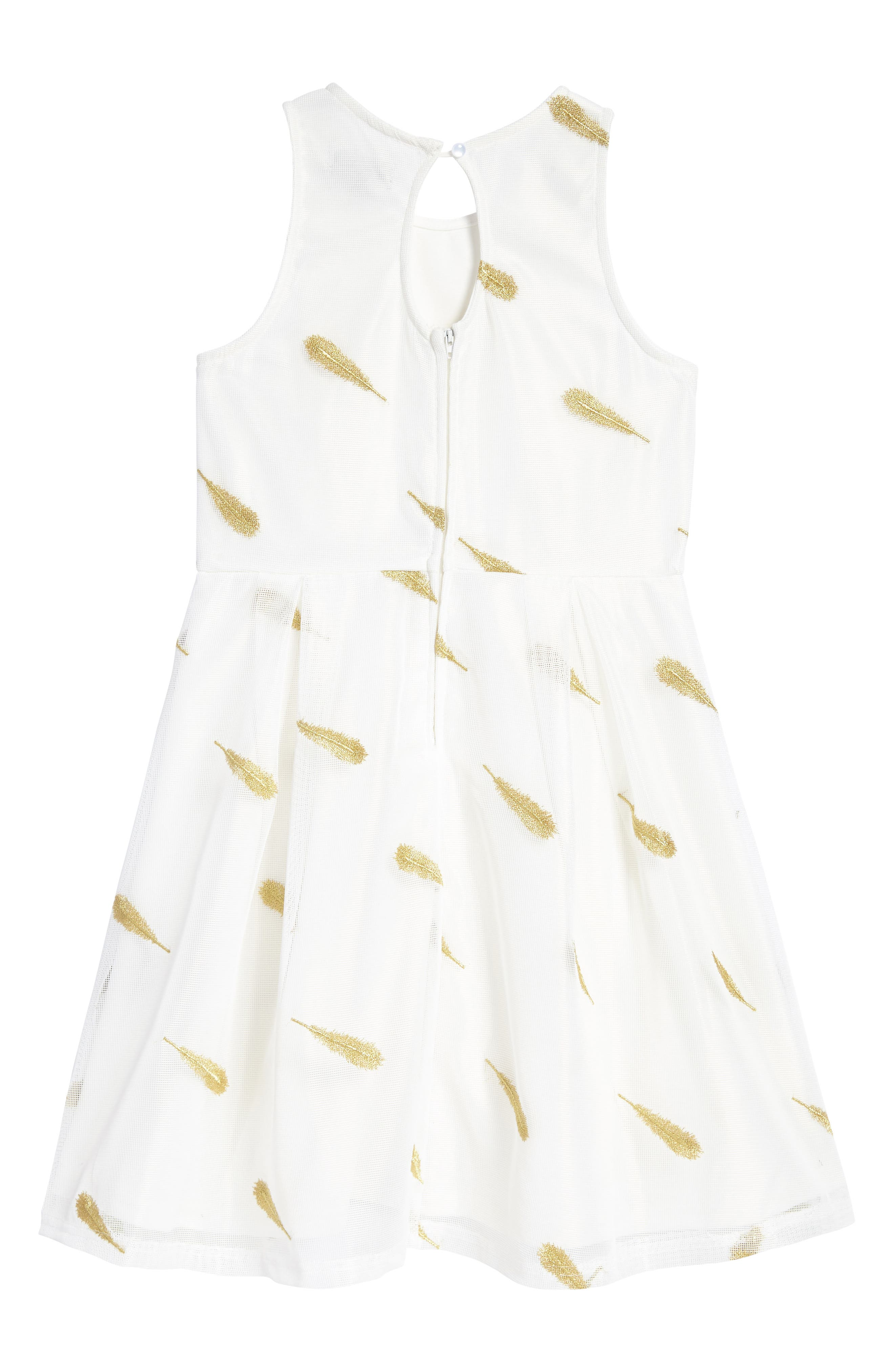 Feather Embroidered Dress,                             Alternate thumbnail 2, color,