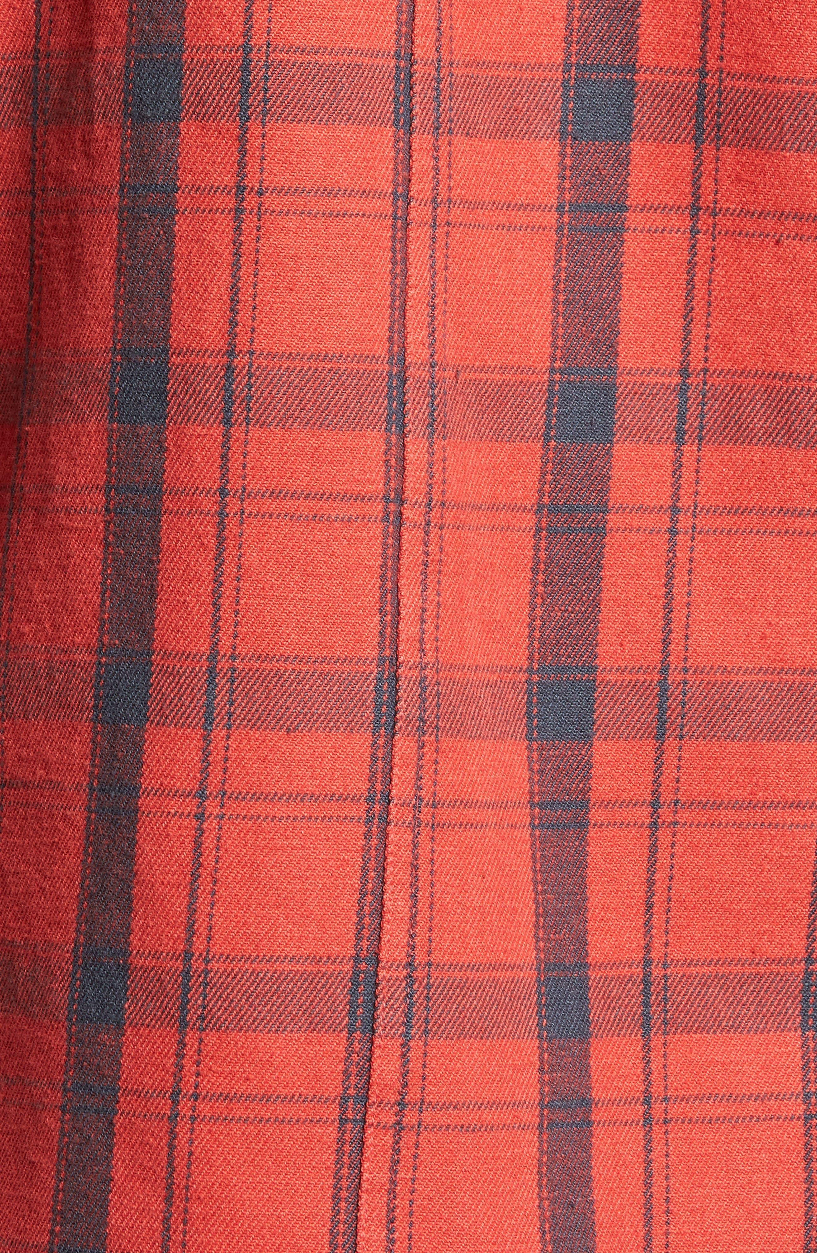 Carpenter Flannel Shirt,                             Alternate thumbnail 14, color,