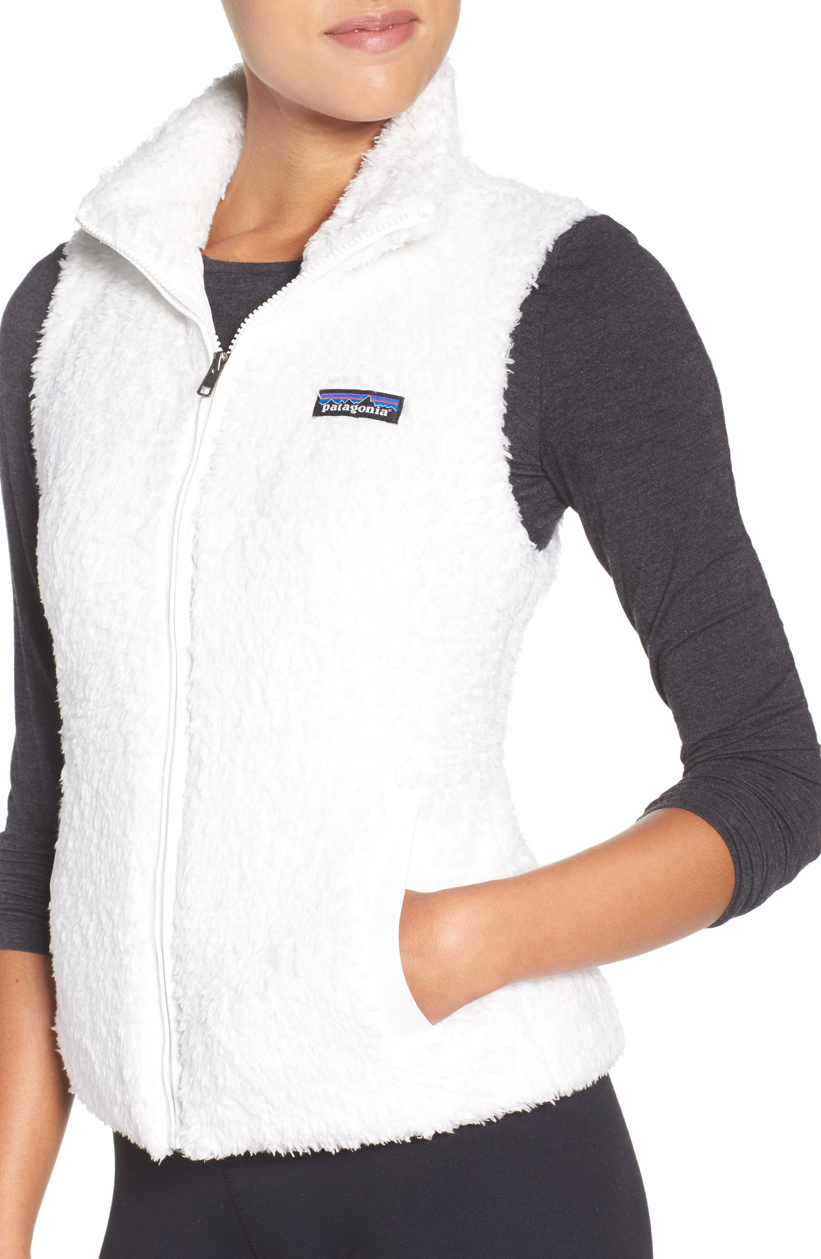 Los Gatos Fleece Vest,                             Alternate thumbnail 4, color,                             BIRCH WHITE