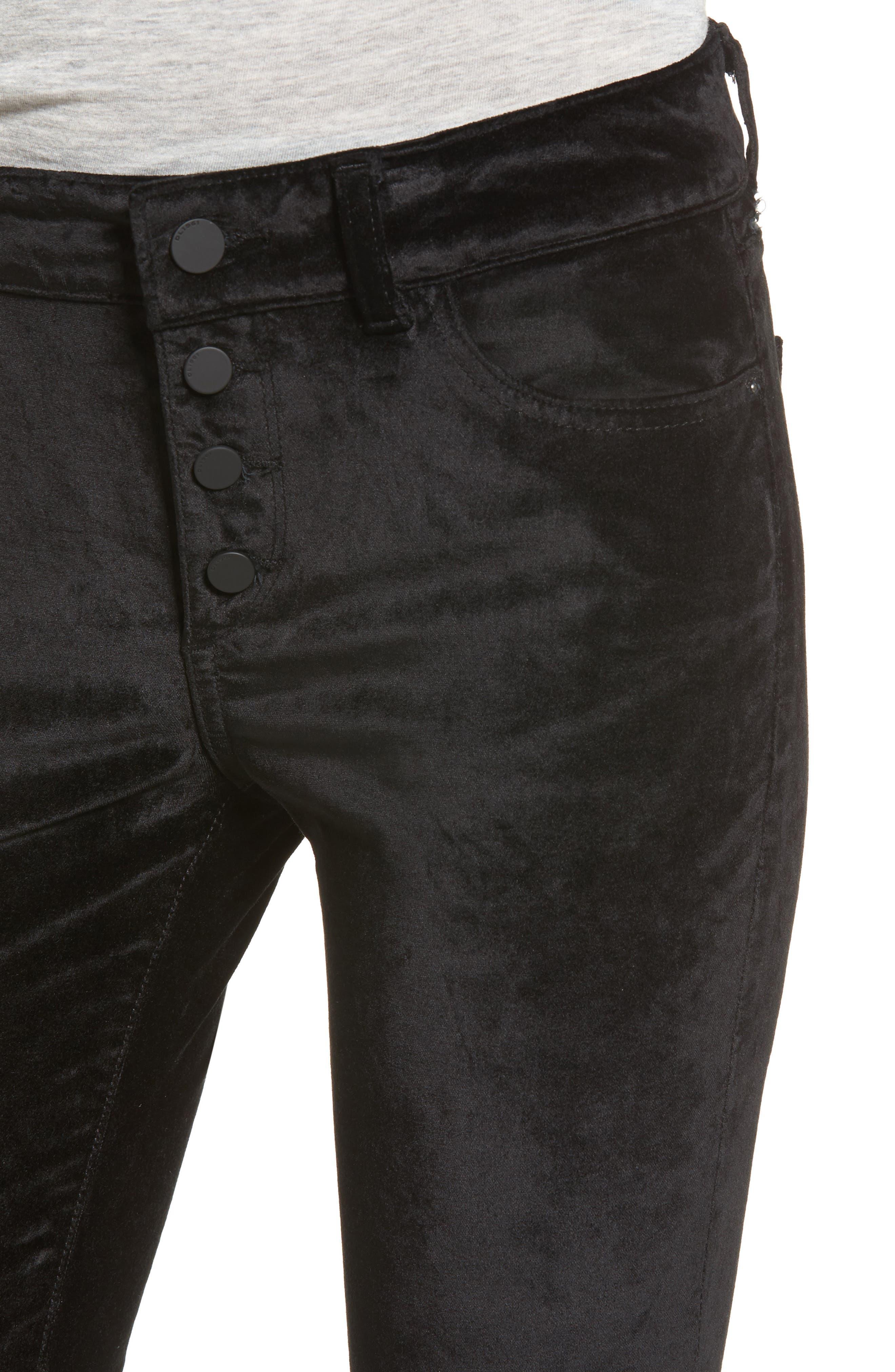 Emma Power Legging Jeans,                             Alternate thumbnail 4, color,                             001