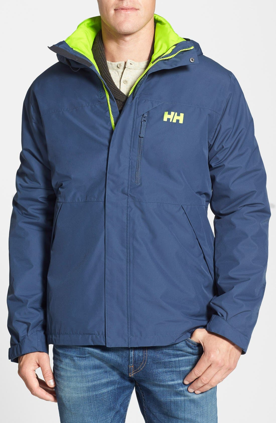 Squamish 3-in-1 Water Repellent Hooded Jacket,                             Main thumbnail 5, color,