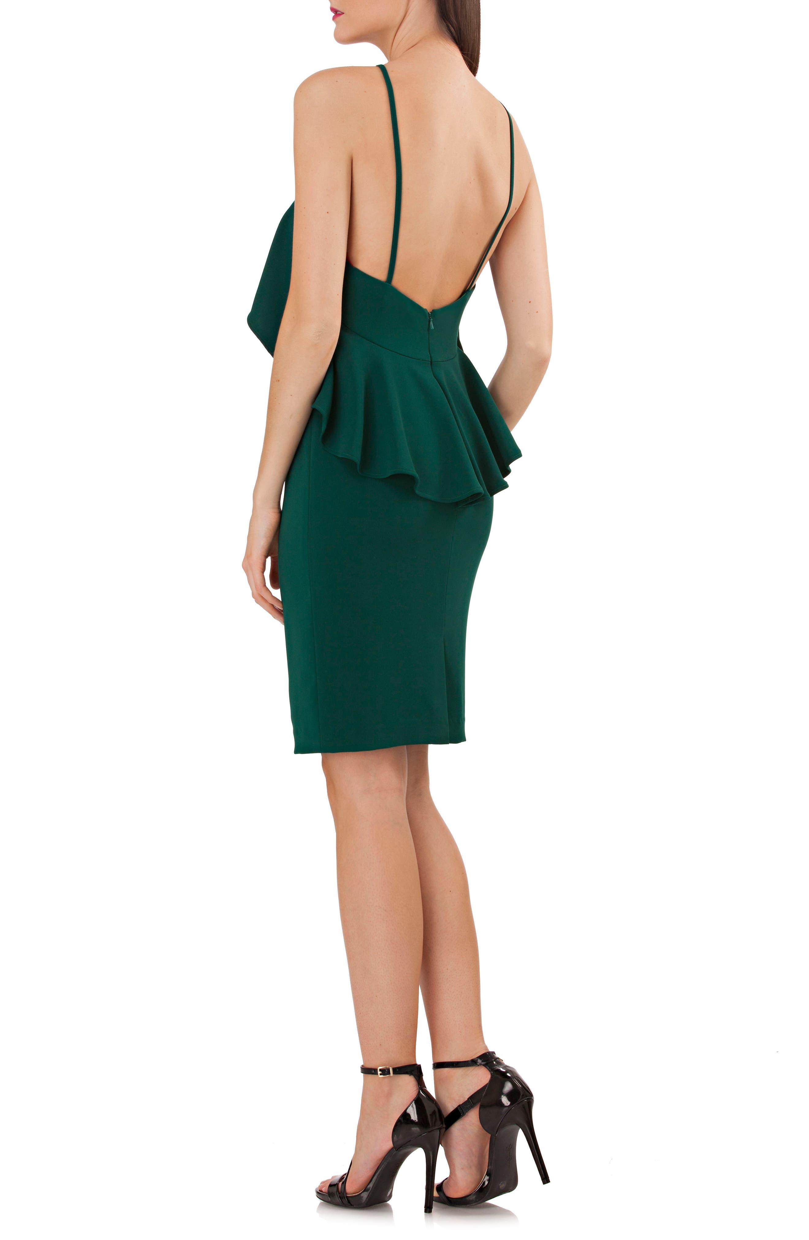 Ruffle Crepe Sheath Dress,                             Alternate thumbnail 2, color,                             301