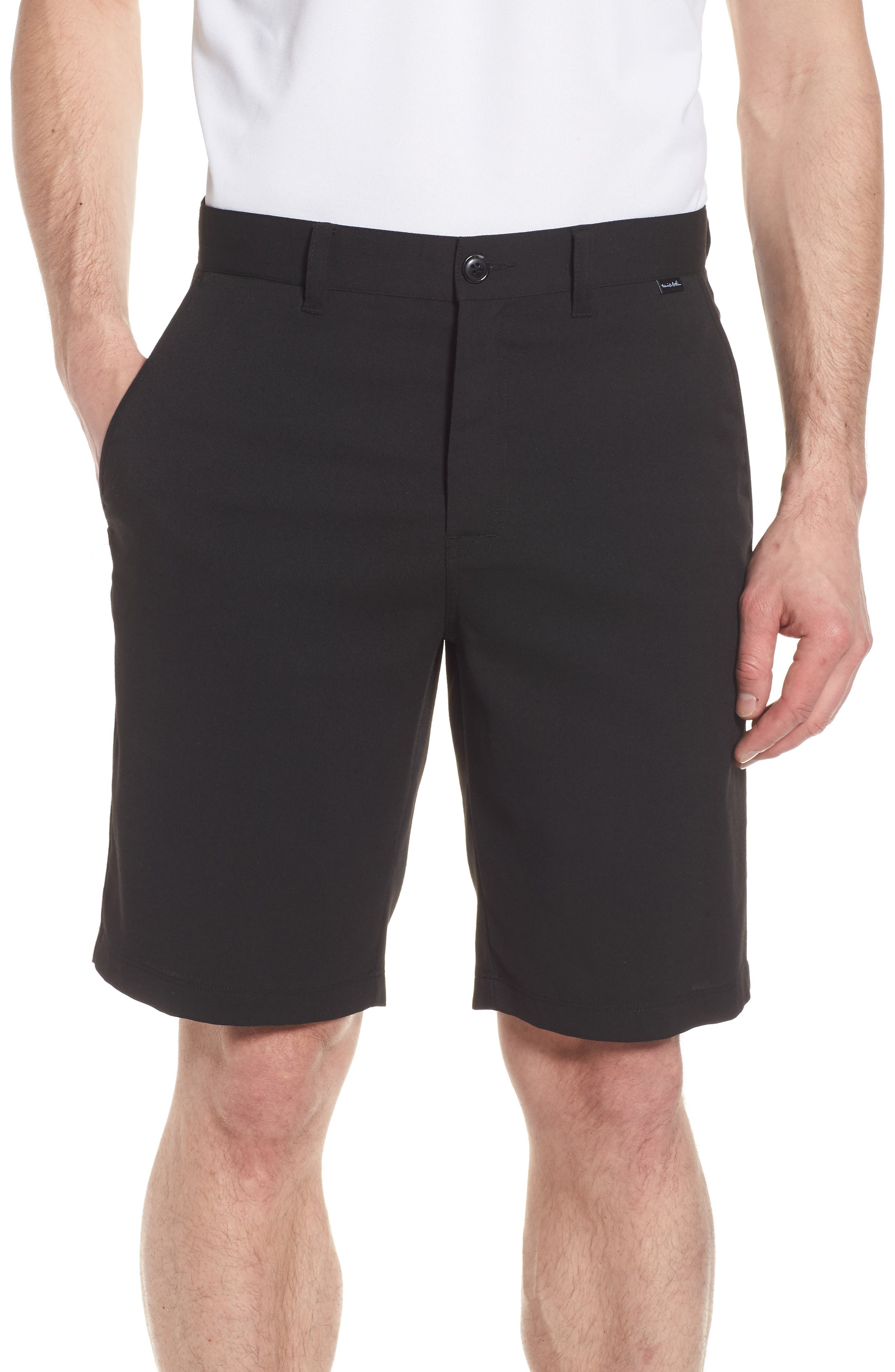 Puebla Stretch Shorts,                             Main thumbnail 1, color,                             BLACK