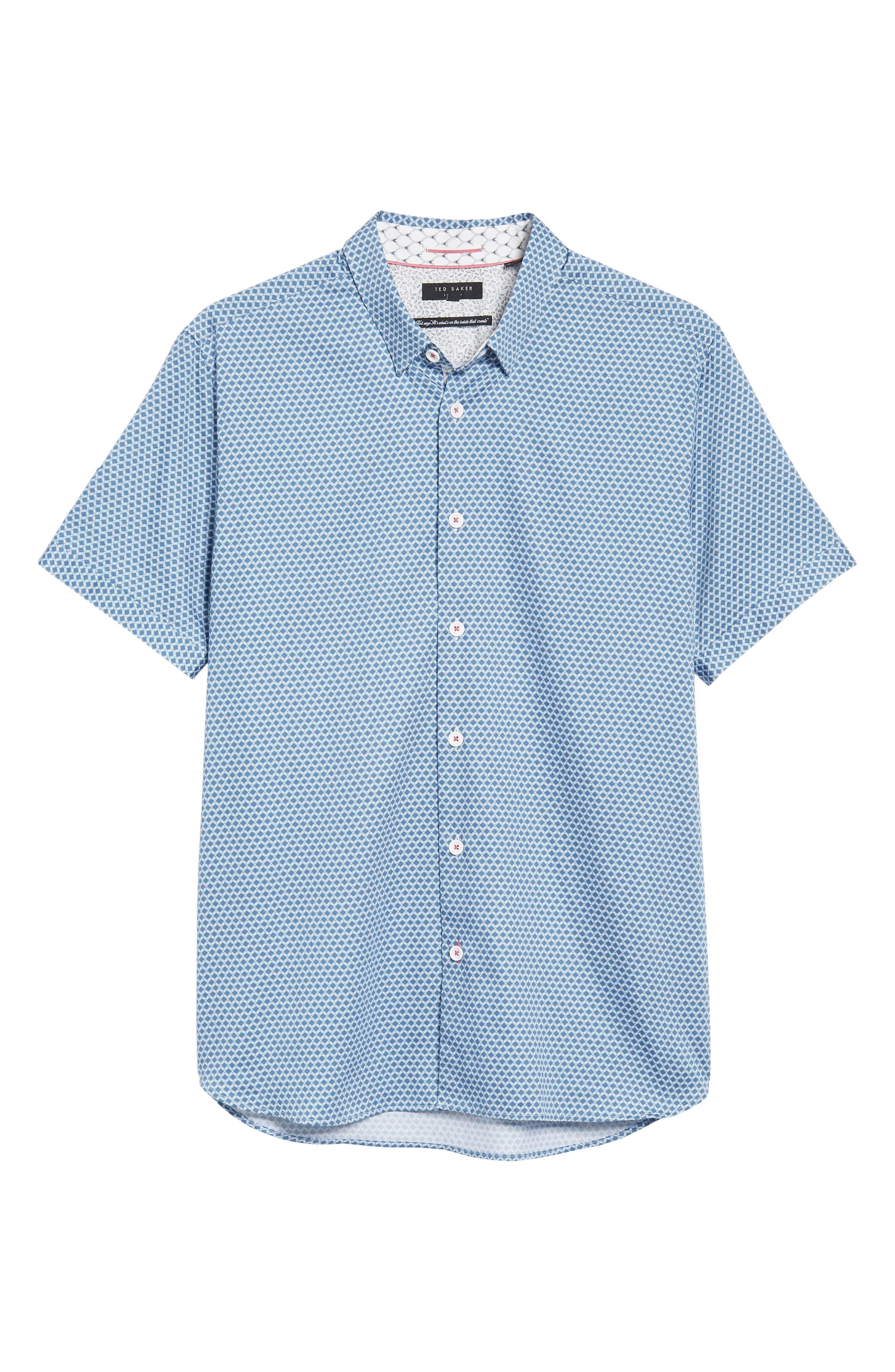 Gudvutt Short Sleeve Sport Shirt,                             Alternate thumbnail 6, color,                             400