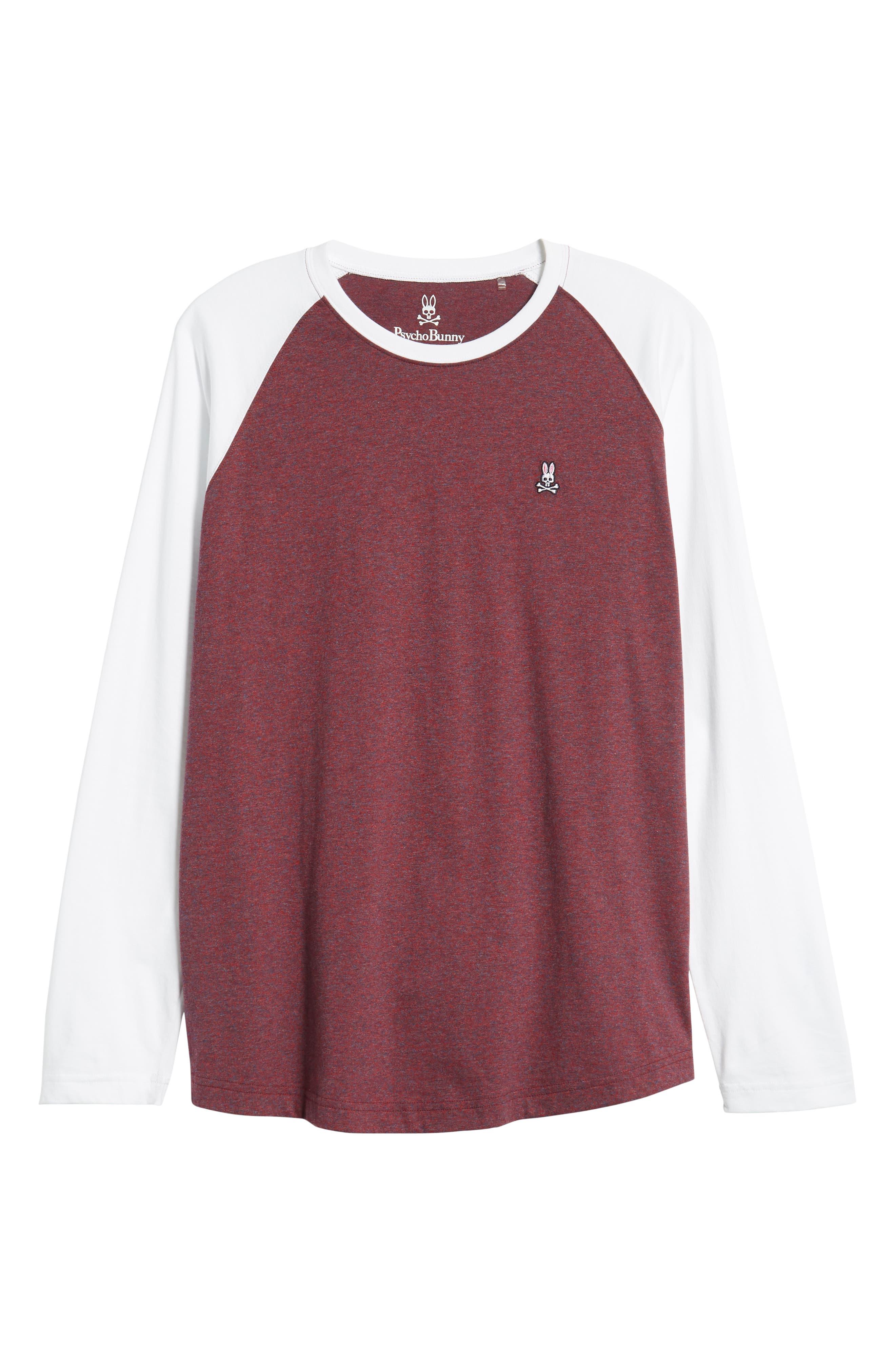 Cobb Raglan T-Shirt,                             Alternate thumbnail 6, color,                             BURGUNDY SALT PEPPER