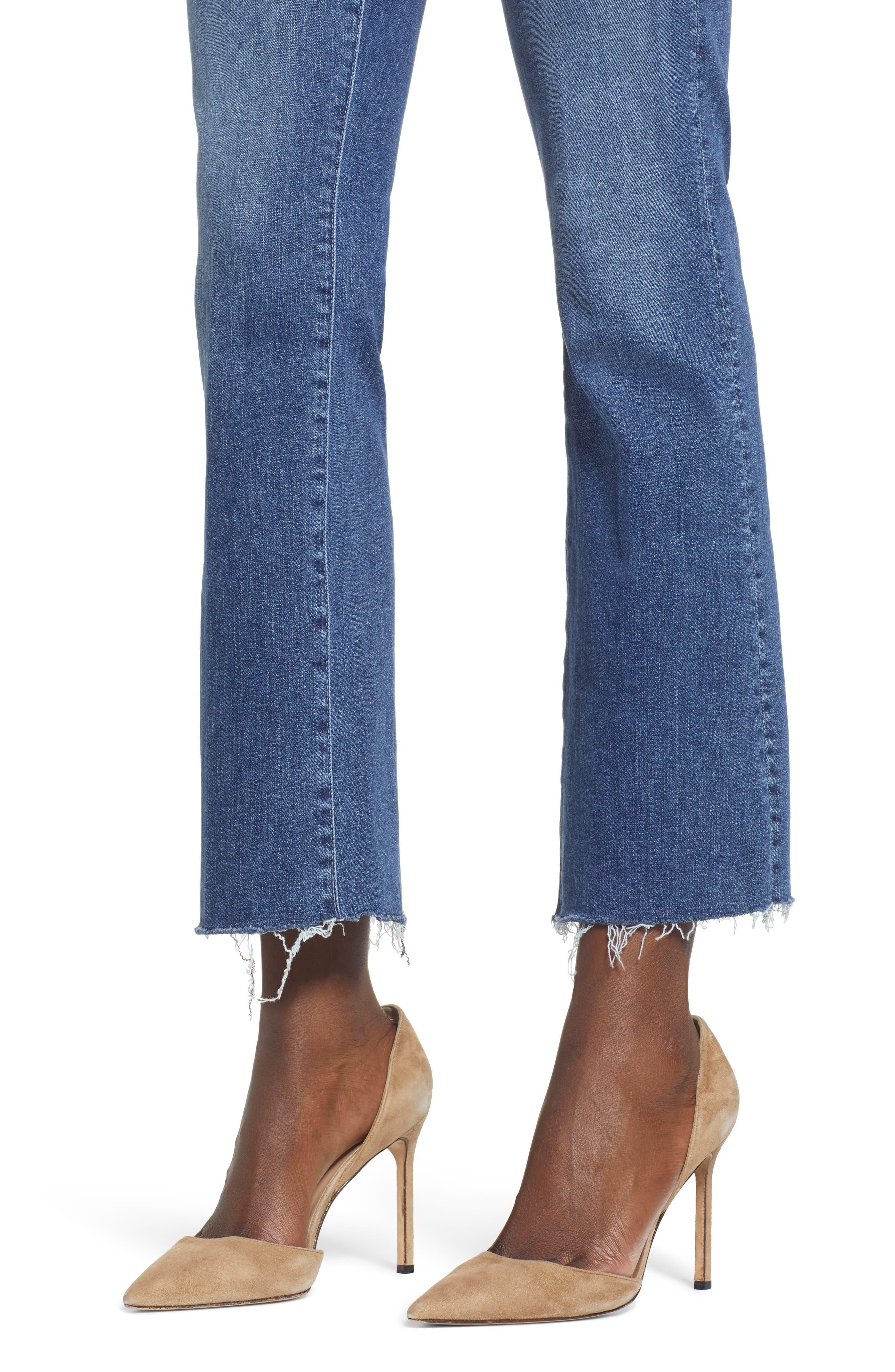 Hustler Fray Ankle Bootcut Jeans,                             Alternate thumbnail 4, color,                             GROOVIN