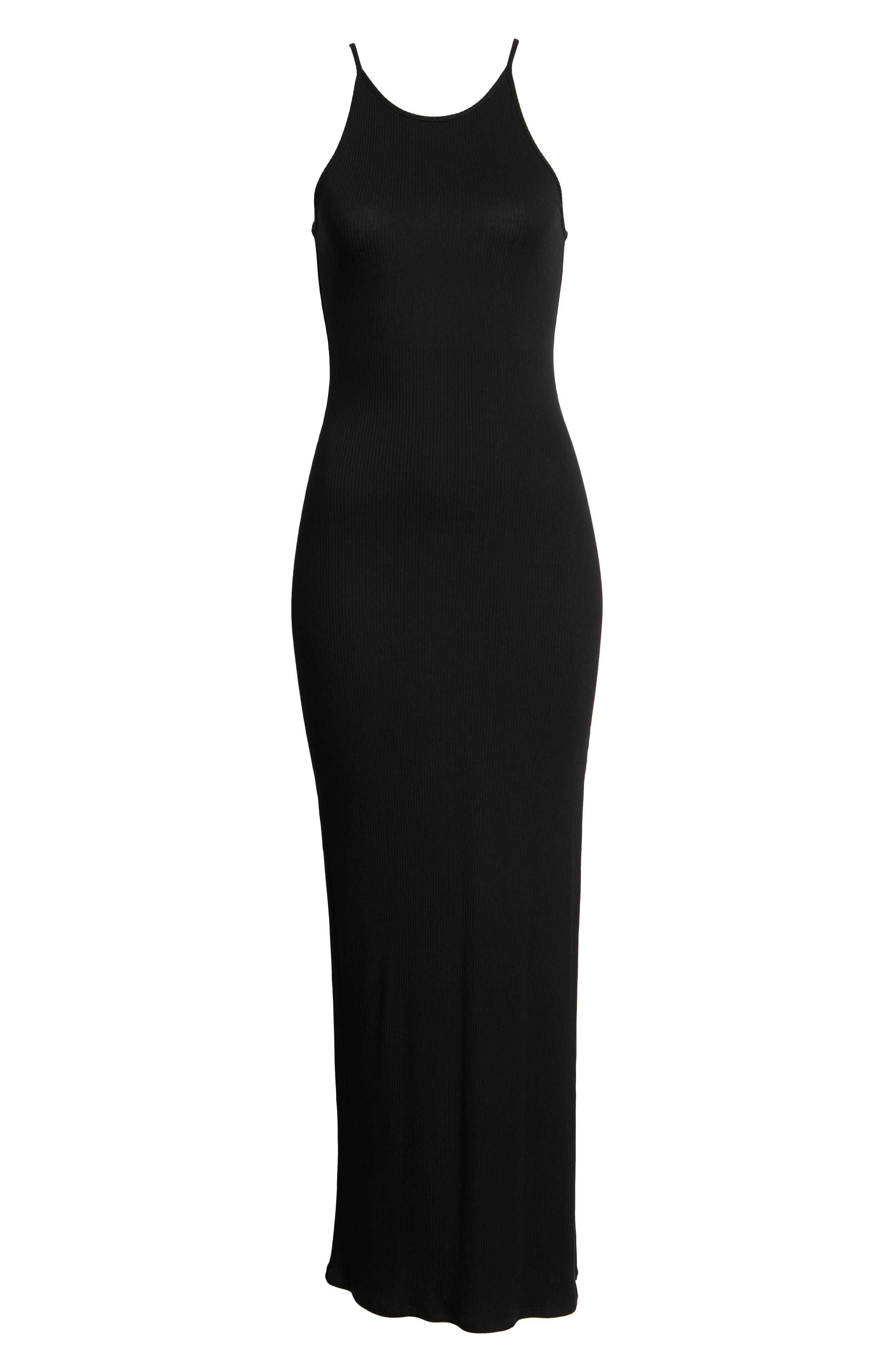 Ribbed Maxi Dress,                             Alternate thumbnail 7, color,
