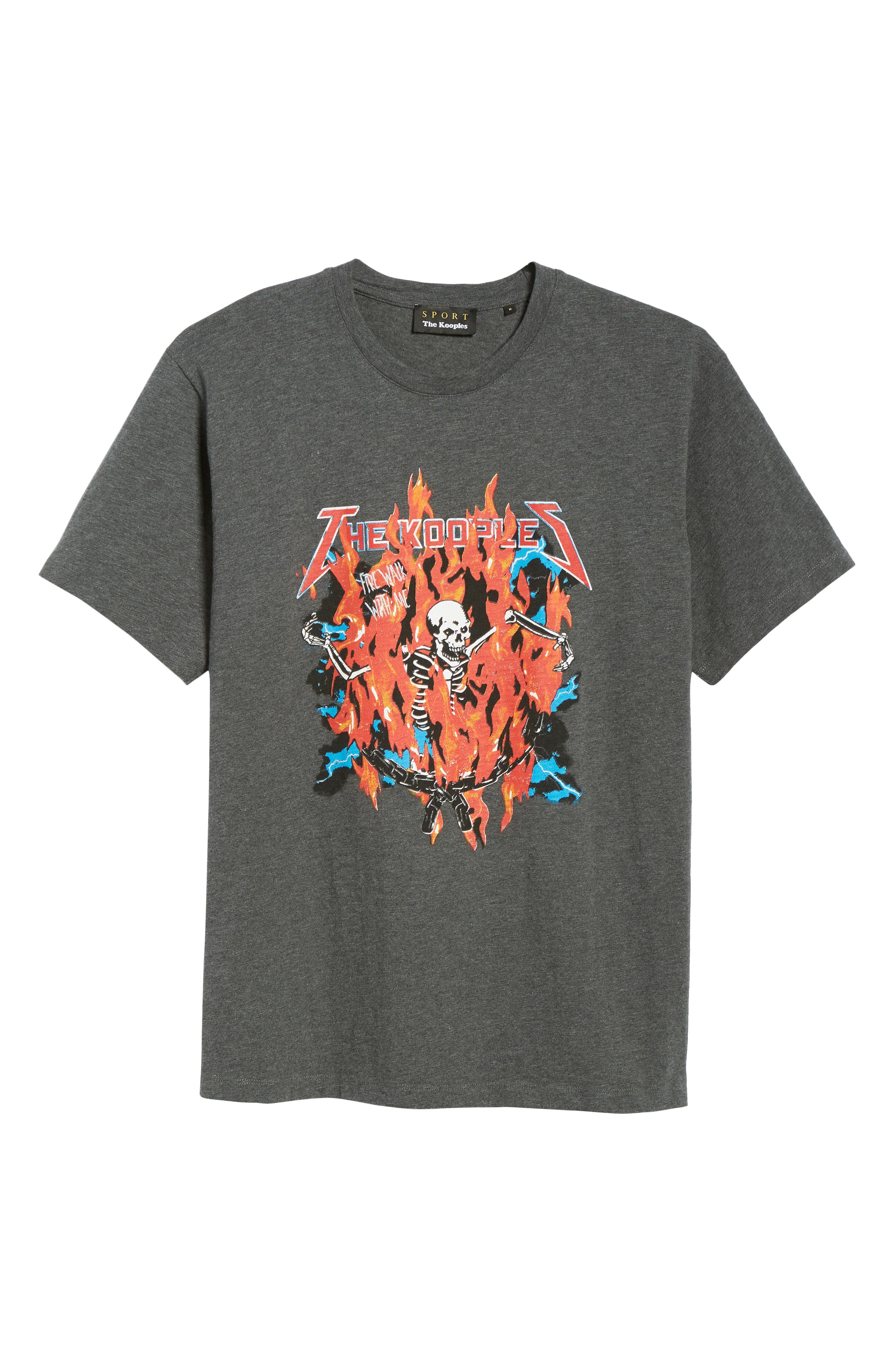 Fire Walk with Me Graphic T-Shirt,                             Alternate thumbnail 6, color,                             GREY