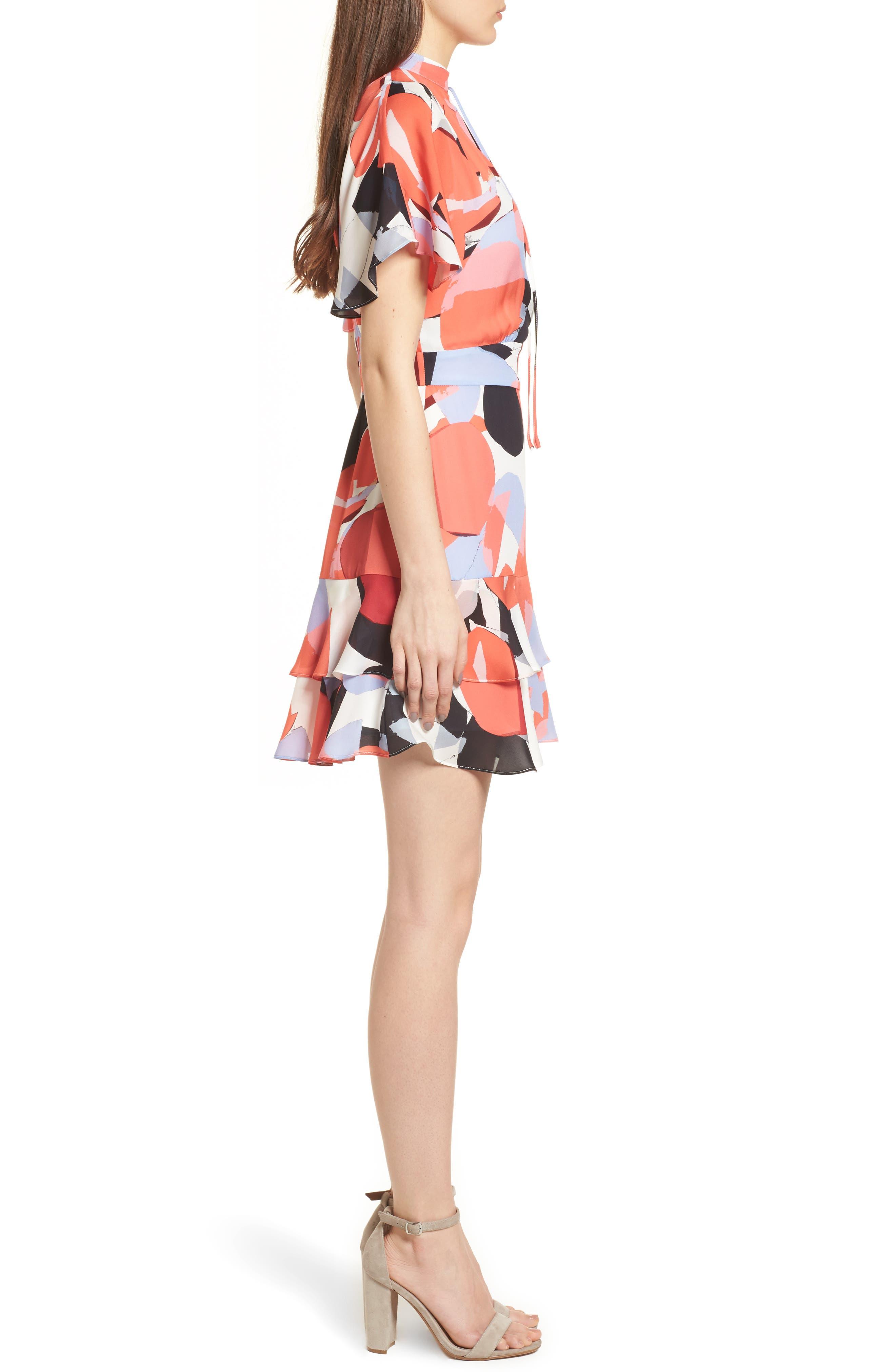 Natalie Silk Dress,                             Alternate thumbnail 3, color,