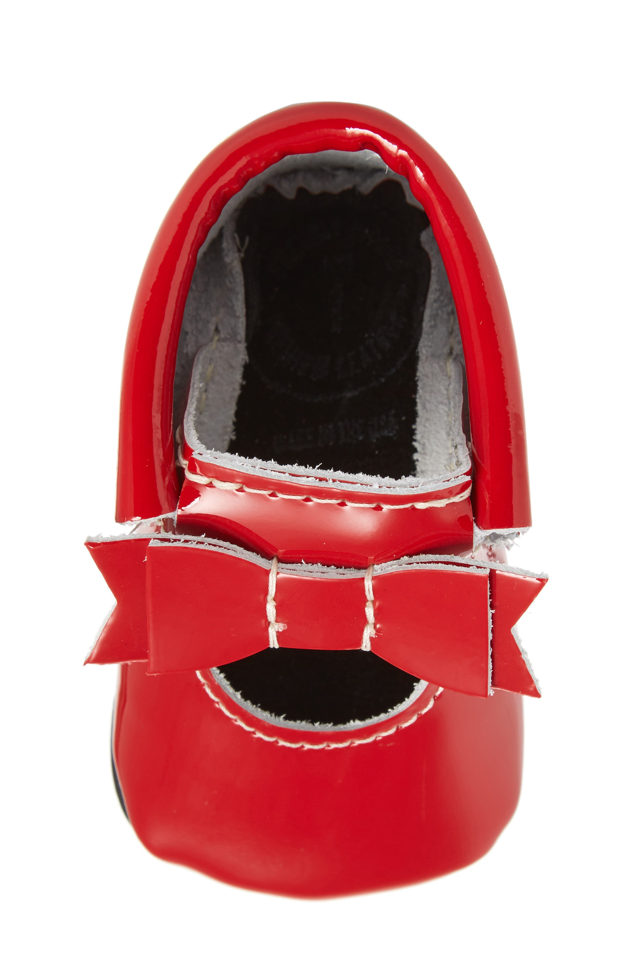 Bow Patent Mary Jane,                             Alternate thumbnail 5, color,                             RED PATENT