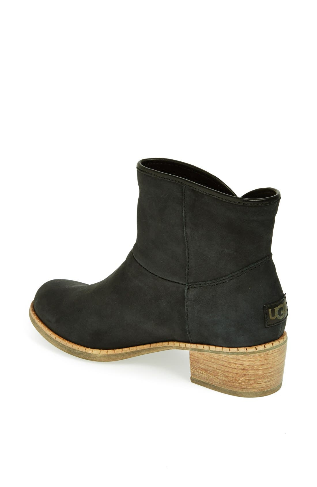 UGG<SUP>®</SUP>,                             Australia 'Darling' Suede Bootie,                             Alternate thumbnail 3, color,                             001