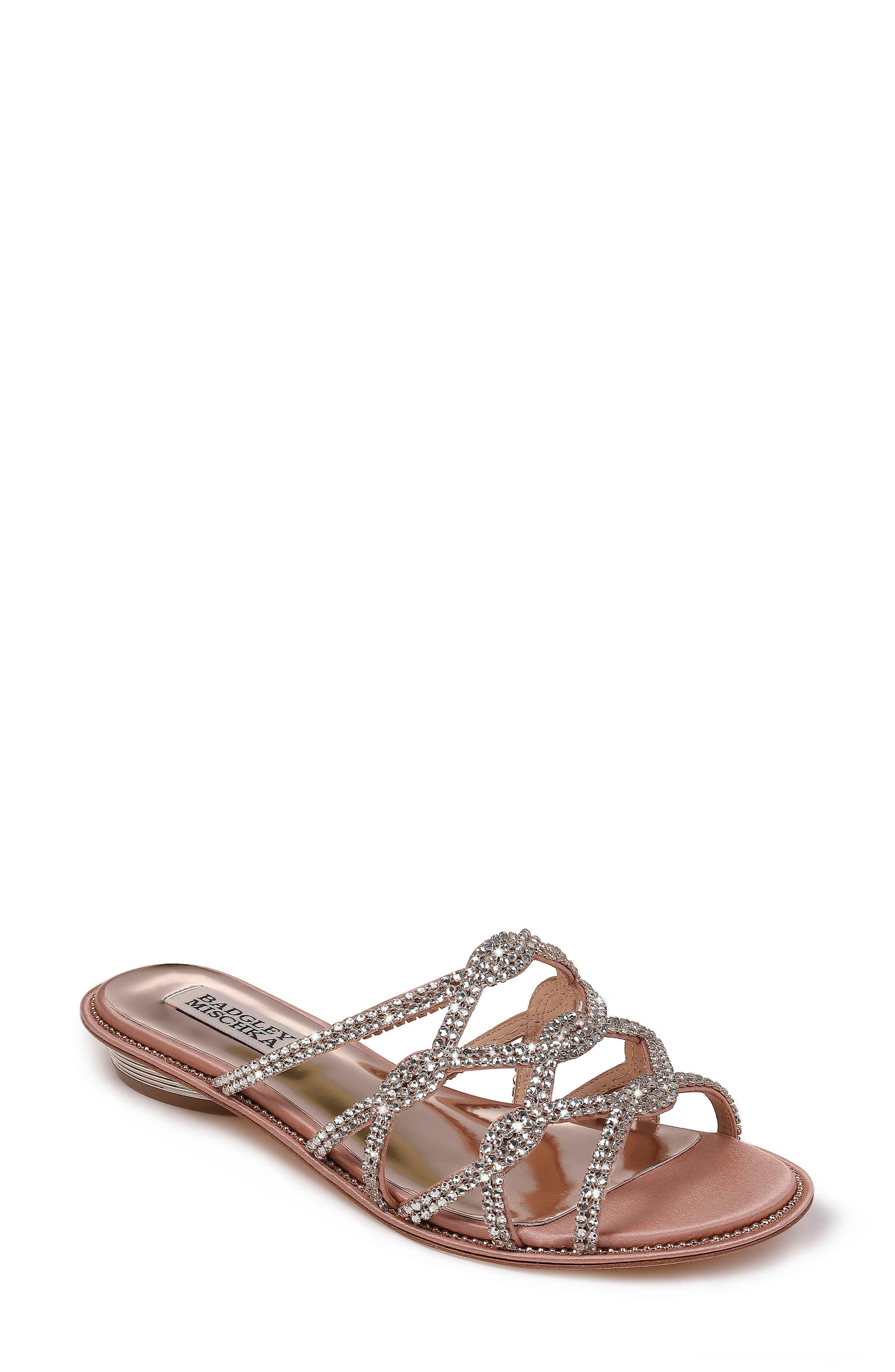 Sofie Strappy Sandal,                             Main thumbnail 1, color,                             DARK PINK SATIN