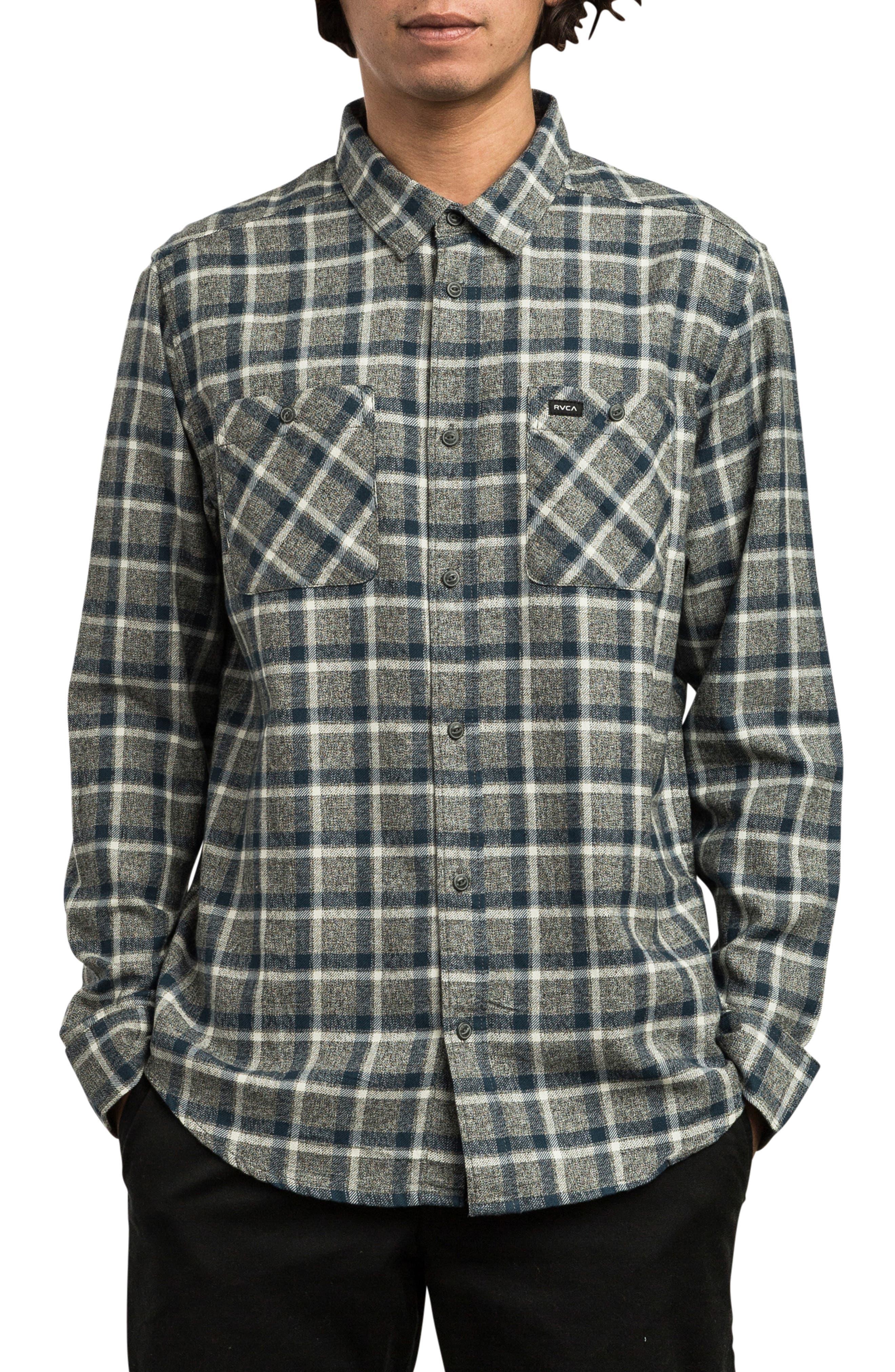 Hero Flannel Shirt, Main, color, PIRATE BLACK