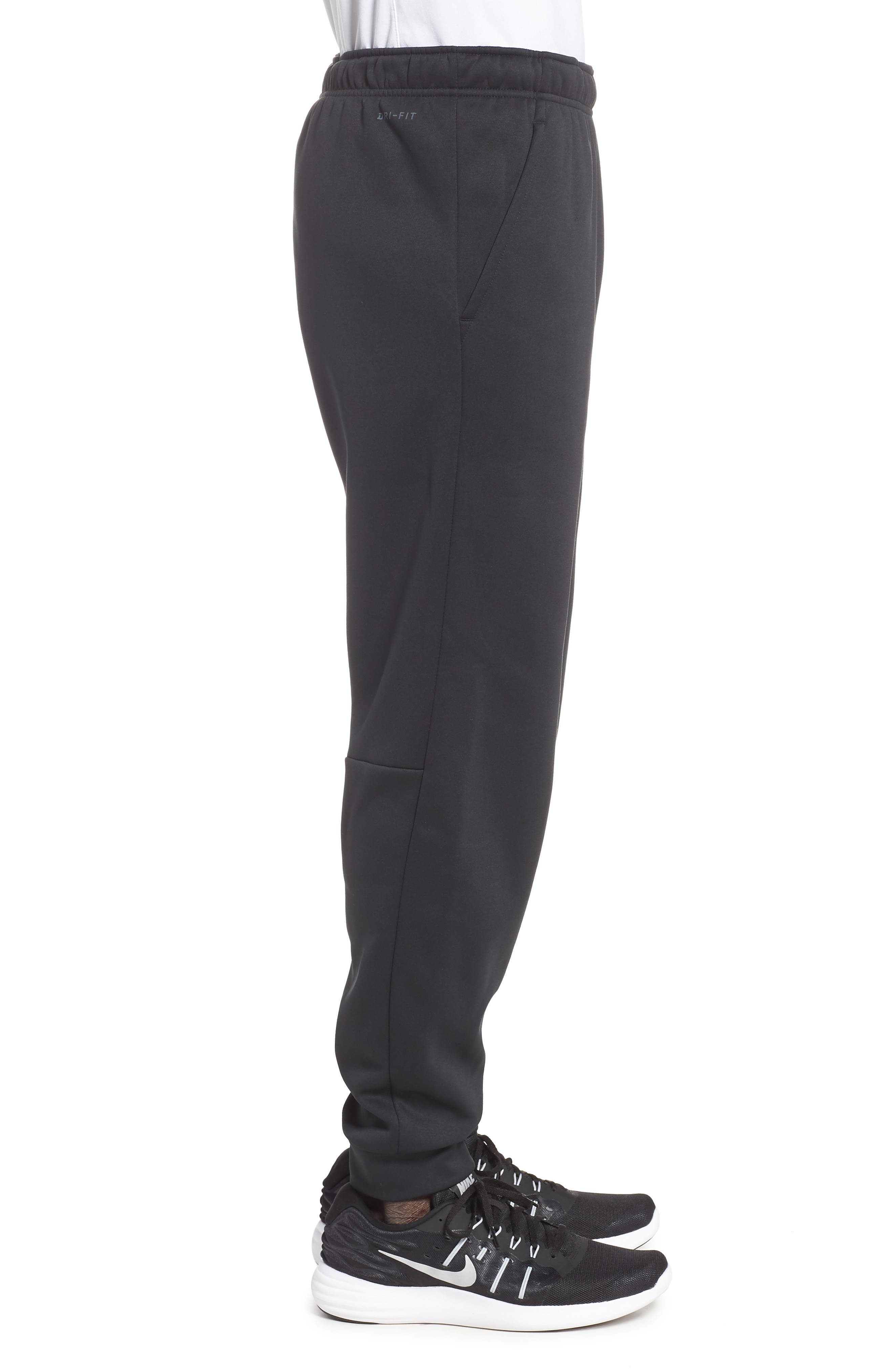 Dri-FIT Therma Training Pants,                             Alternate thumbnail 3, color,                             BLACK/ METALLIC HEMATITE