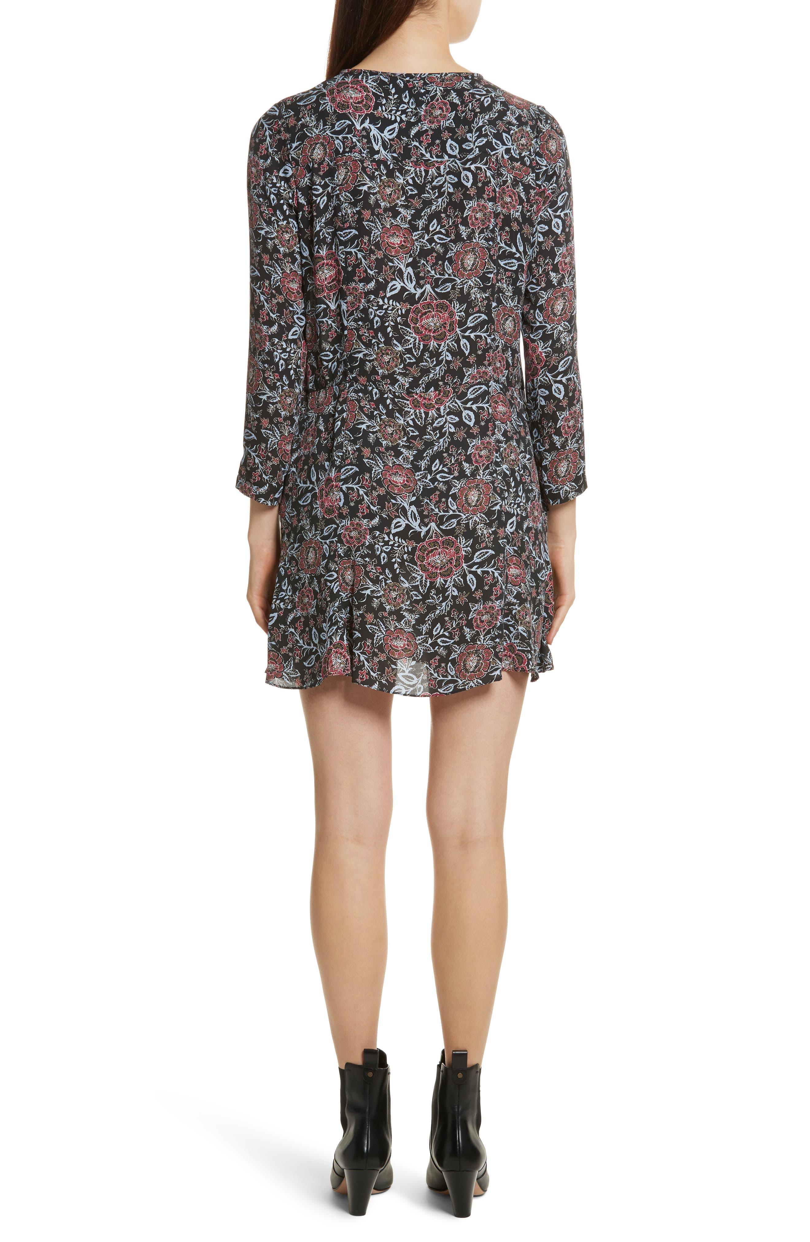 VERONICA BEARD,                             Dropped Tie Waist Silk Dress,                             Alternate thumbnail 2, color,                             600