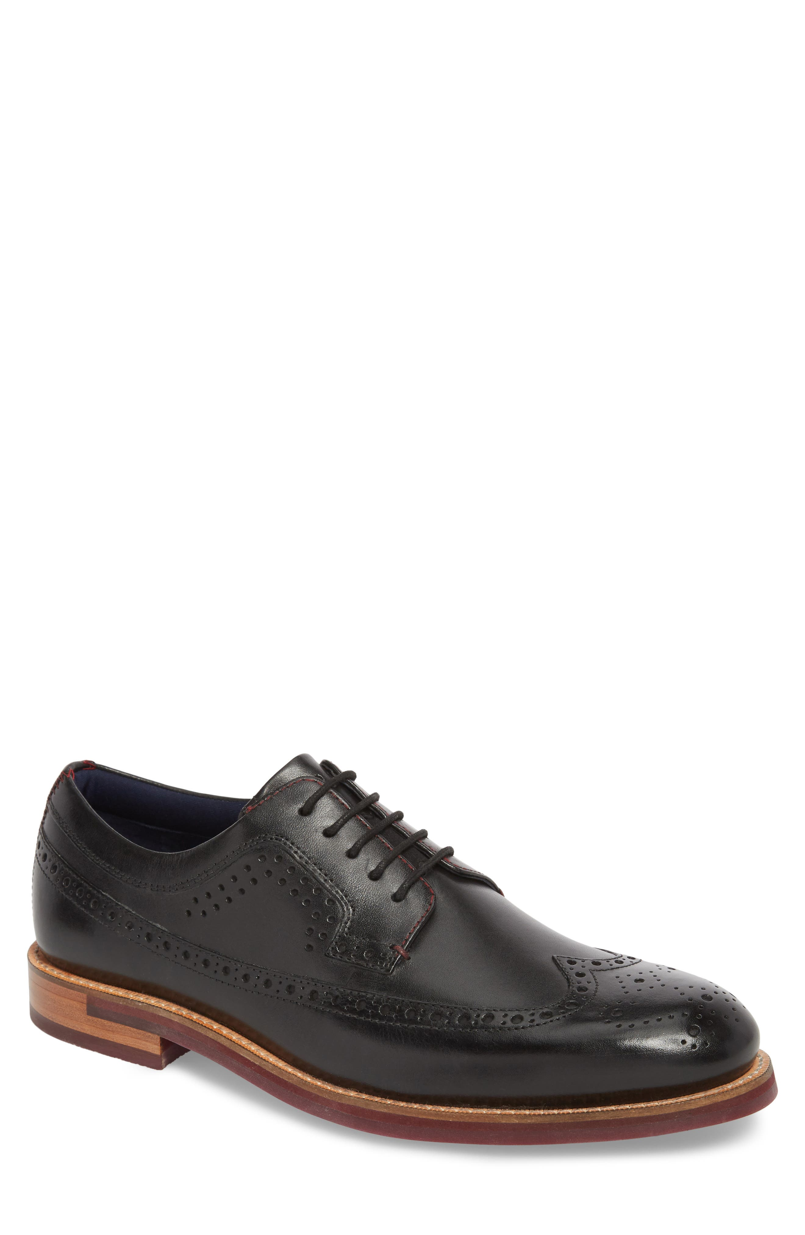 Mition Wingtip Derby,                             Main thumbnail 1, color,                             BLACK LEATHER