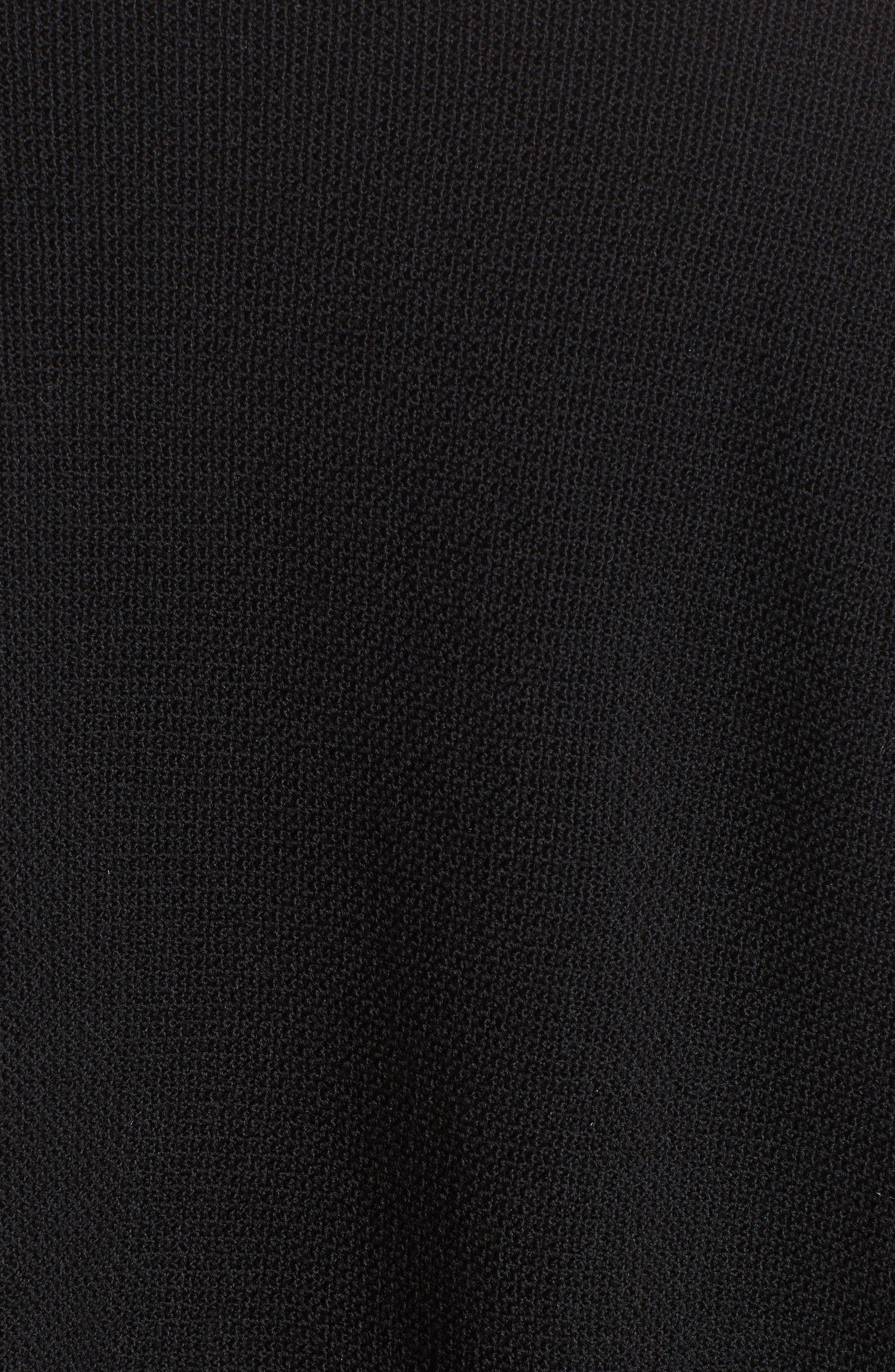 Dégradé Stripe Wool Cardigan,                             Alternate thumbnail 6, color,                             001