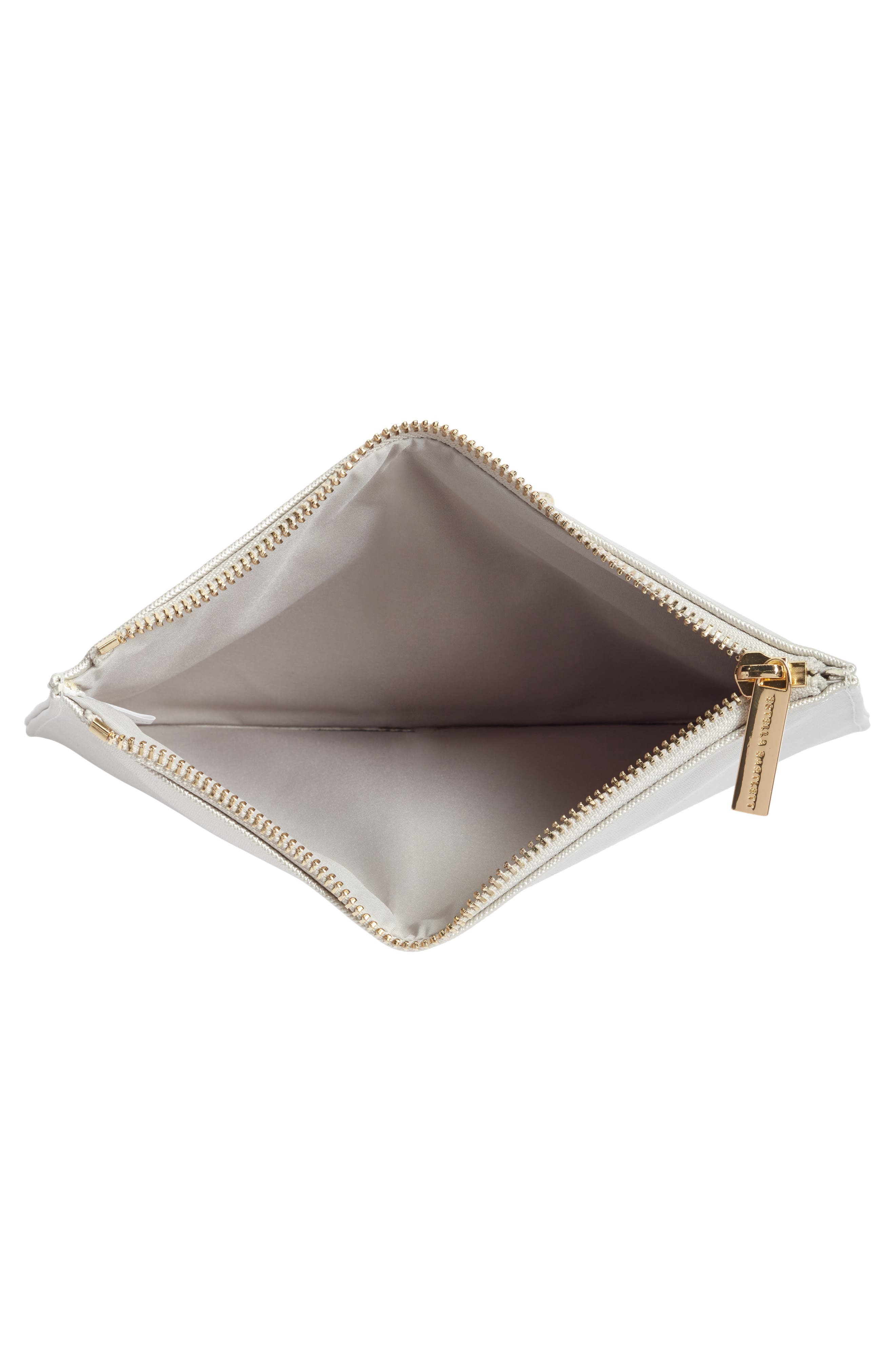 ESTELLA BARTLETT,                             Medium Zip Pouch,                             Alternate thumbnail 4, color,                             SILVER - BELIEVE