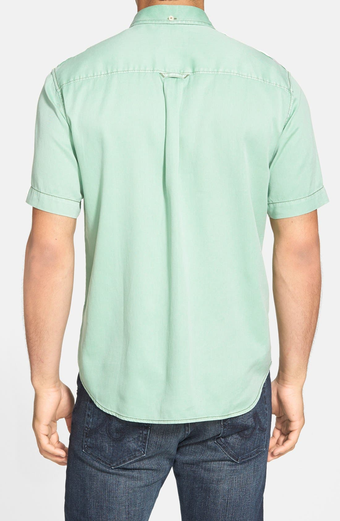 'New Twilly' Island Modern Fit Short Sleeve Twill Shirt,                             Alternate thumbnail 34, color,