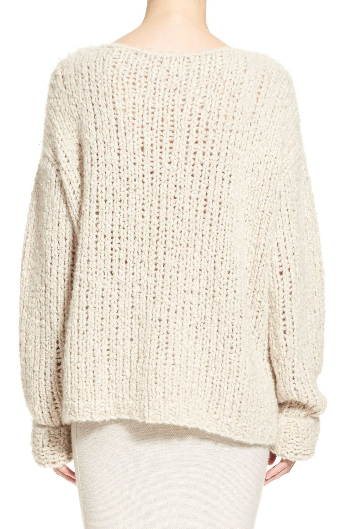 Donna KaranCollection Hand Knit Cashmere Sweater,                             Alternate thumbnail 6, color,                             282