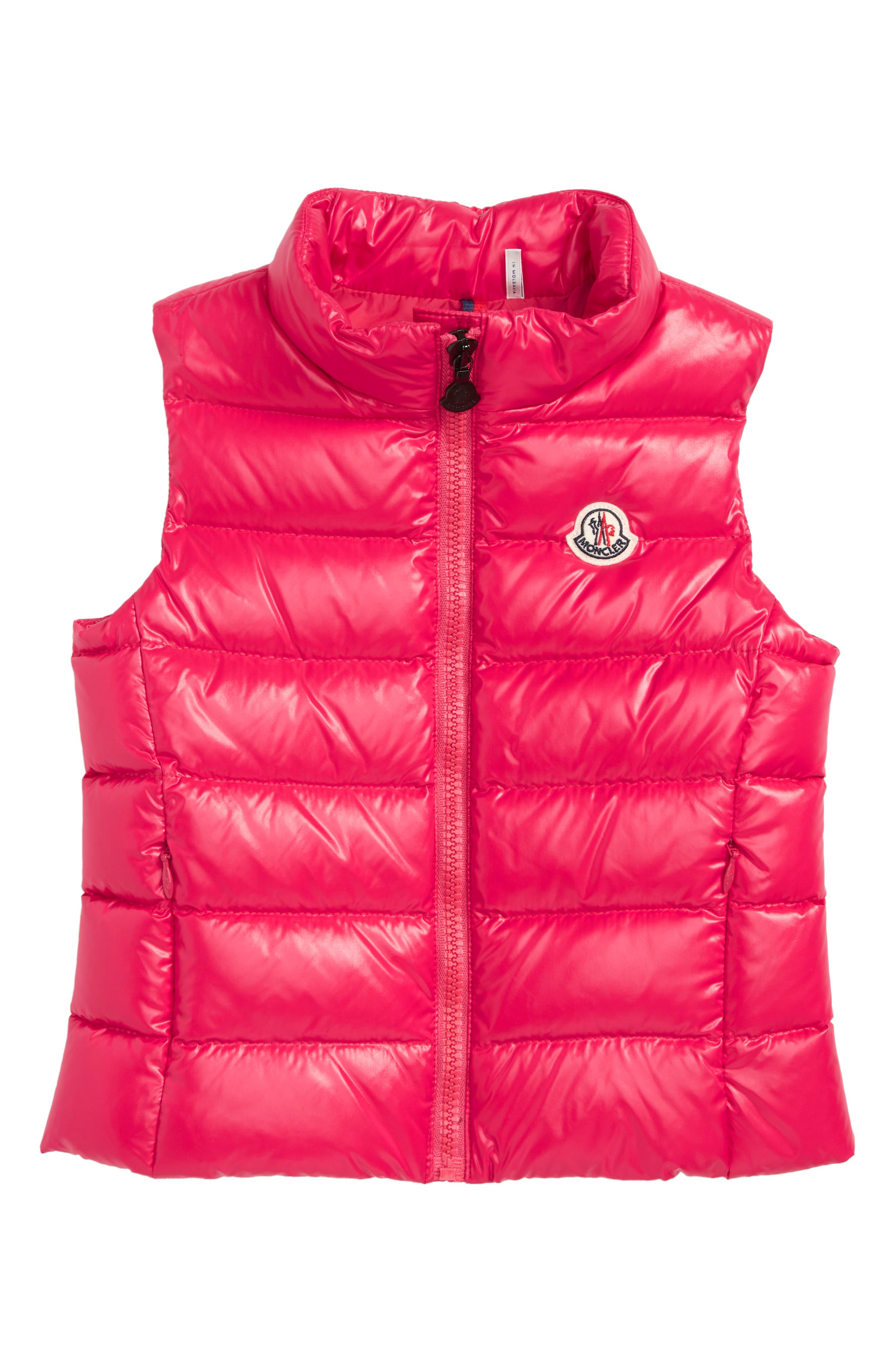 Ghany Down Vest,                         Main,                         color, FUCHSIA