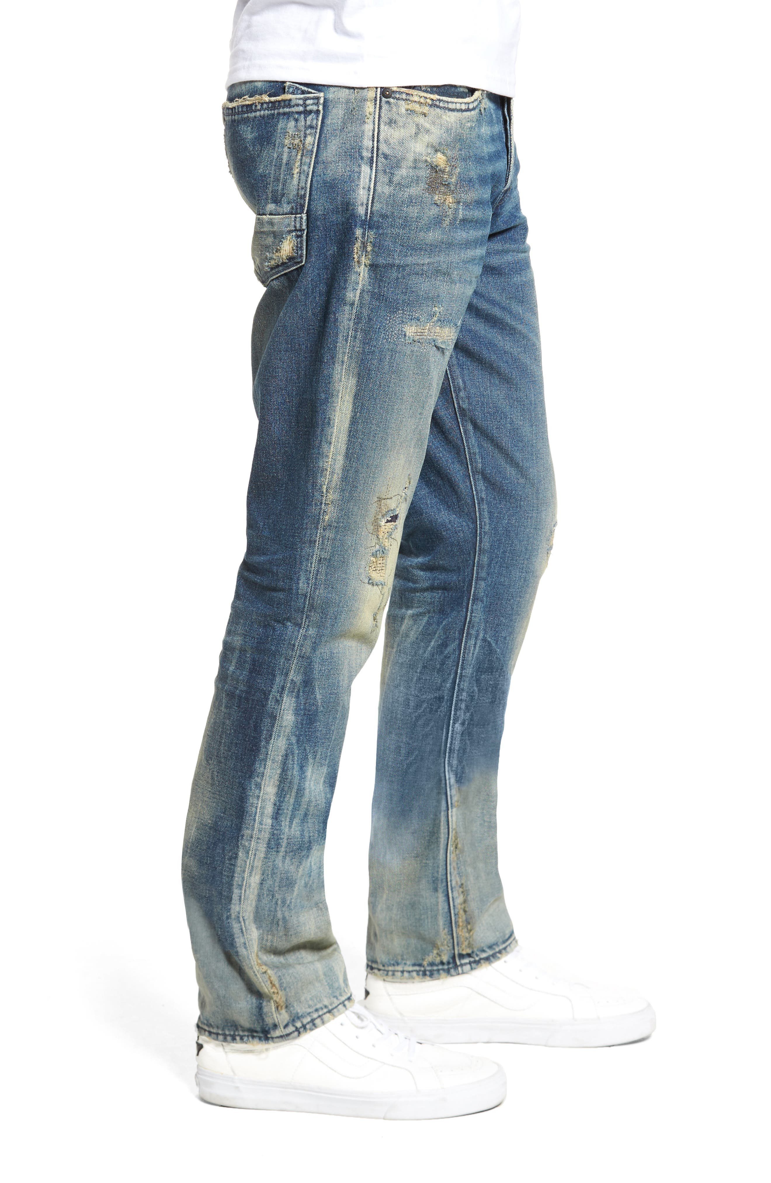 Slim Straight Leg Jeans,                             Alternate thumbnail 3, color,